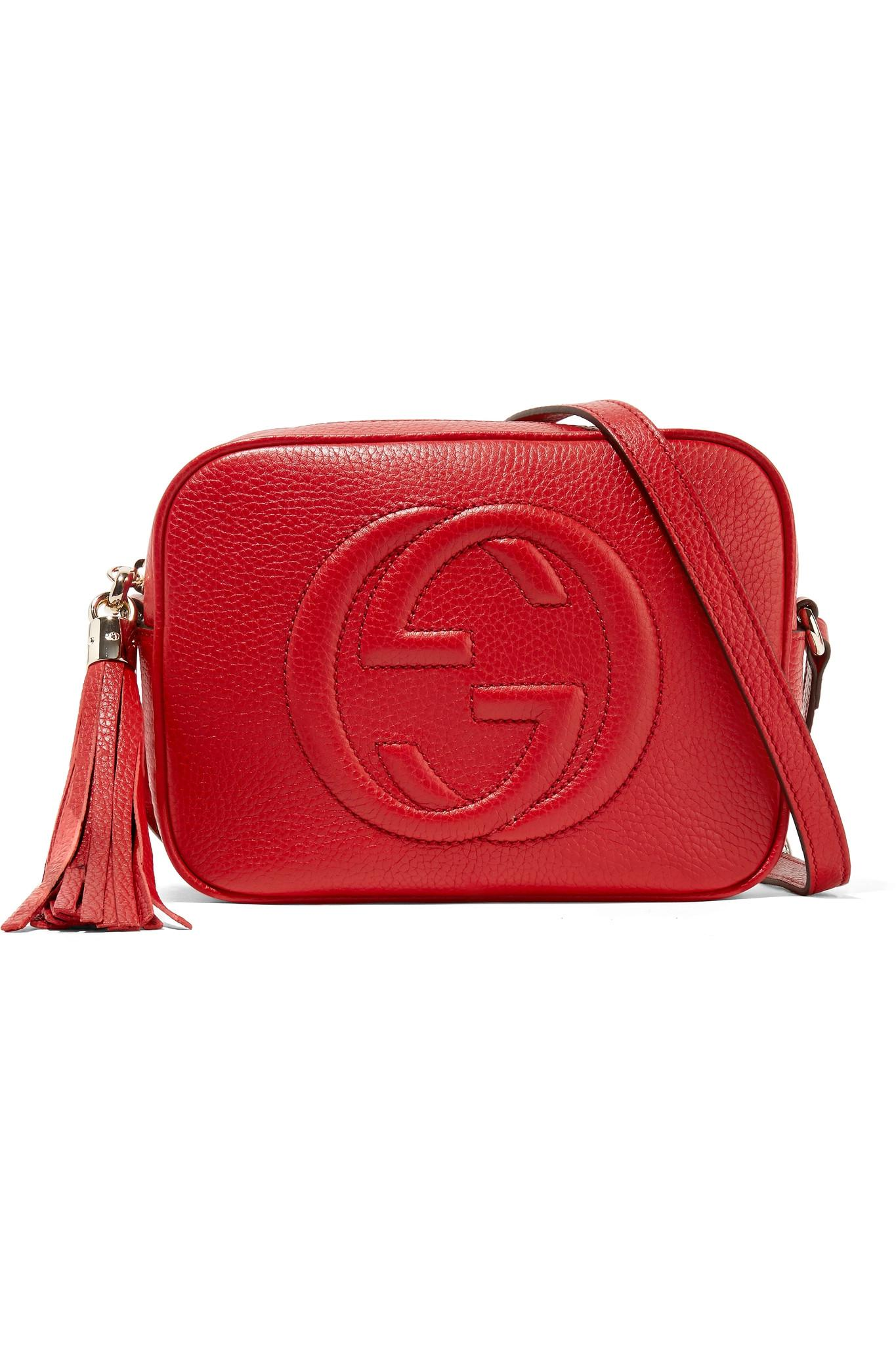 84940c3f8d6 Gucci Soho Disco Textured-leather Shoulder Bag Red One Size in Red ...