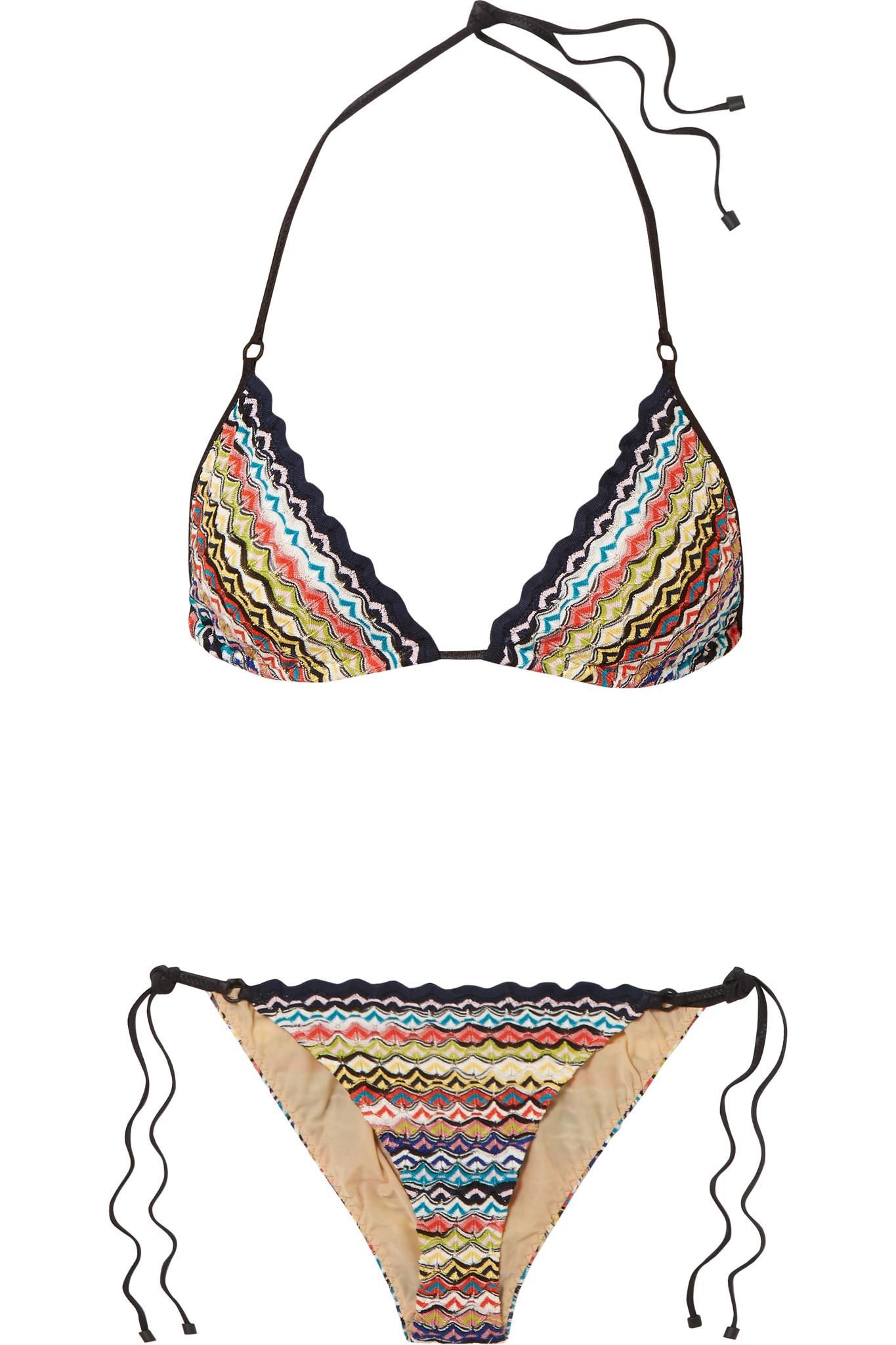 f1d6849c35e92 Lyst - Missoni Mare Donna Crochet-knit Triangle Bikini in Black