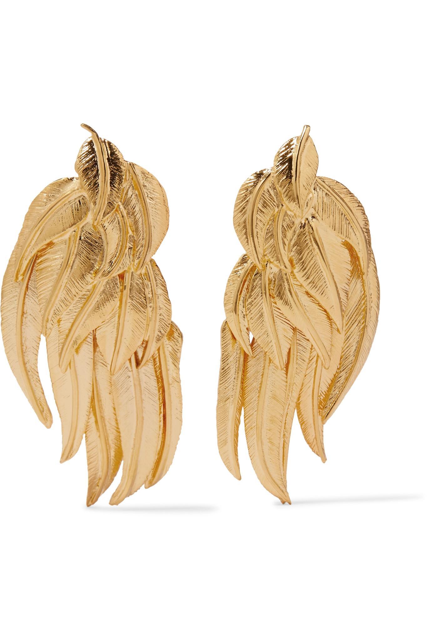 Aurélie Bidermann Elvira gold-plated clip earrings yAHsYy