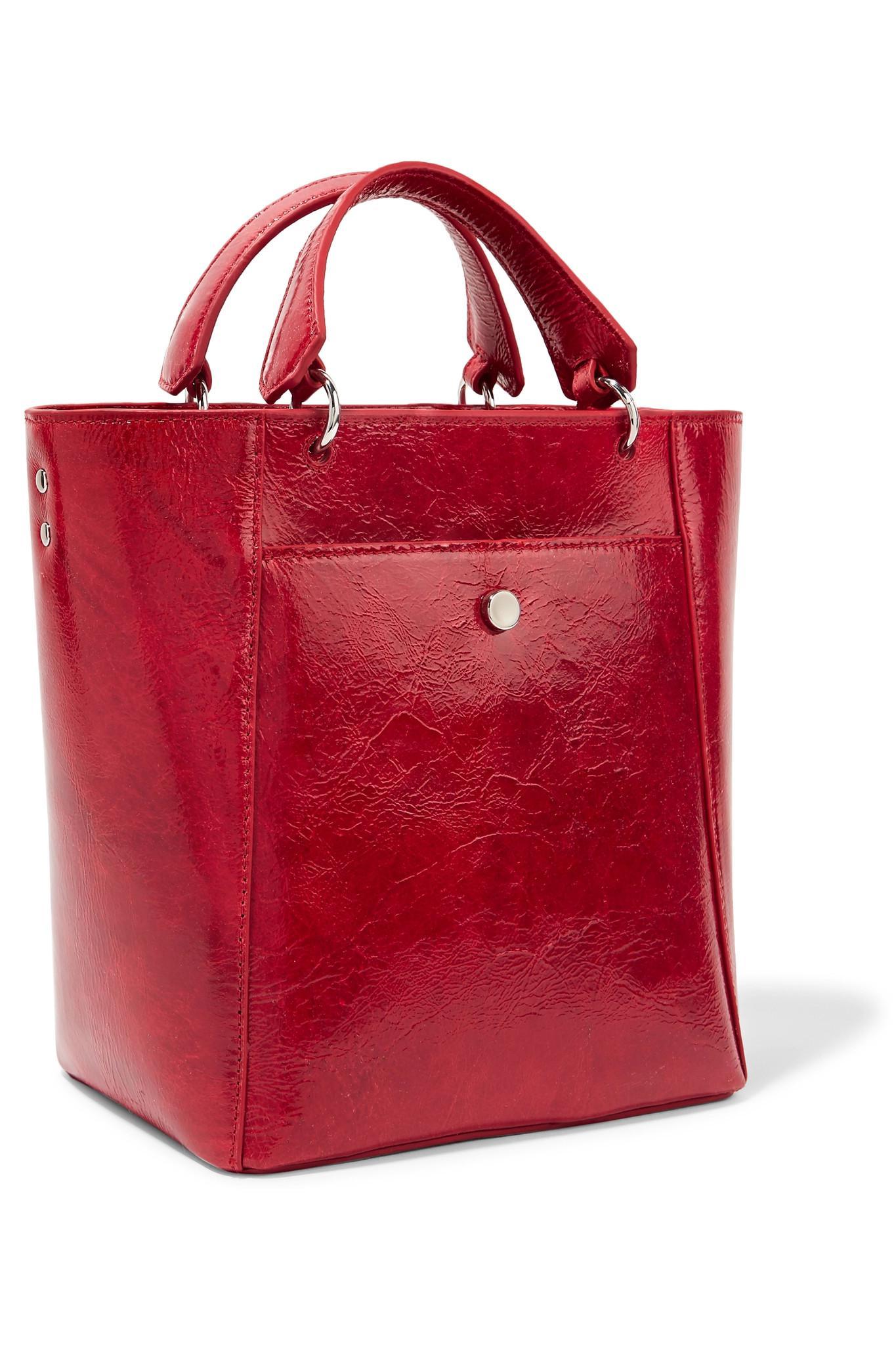 Eloise Small Faux Patent Textured-leather Tote - Black Elizabeth & James FXlDs