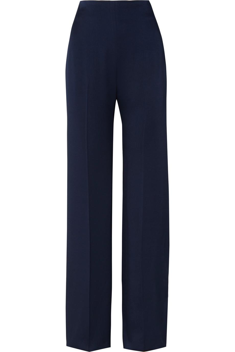 Satin Wide-leg Pants - Midnight blue Jenny Packham Best Sale Sale Online Sale Nicekicks Cheap Sale Buy New And Fashion Discount Inexpensive v3UkcEYJD