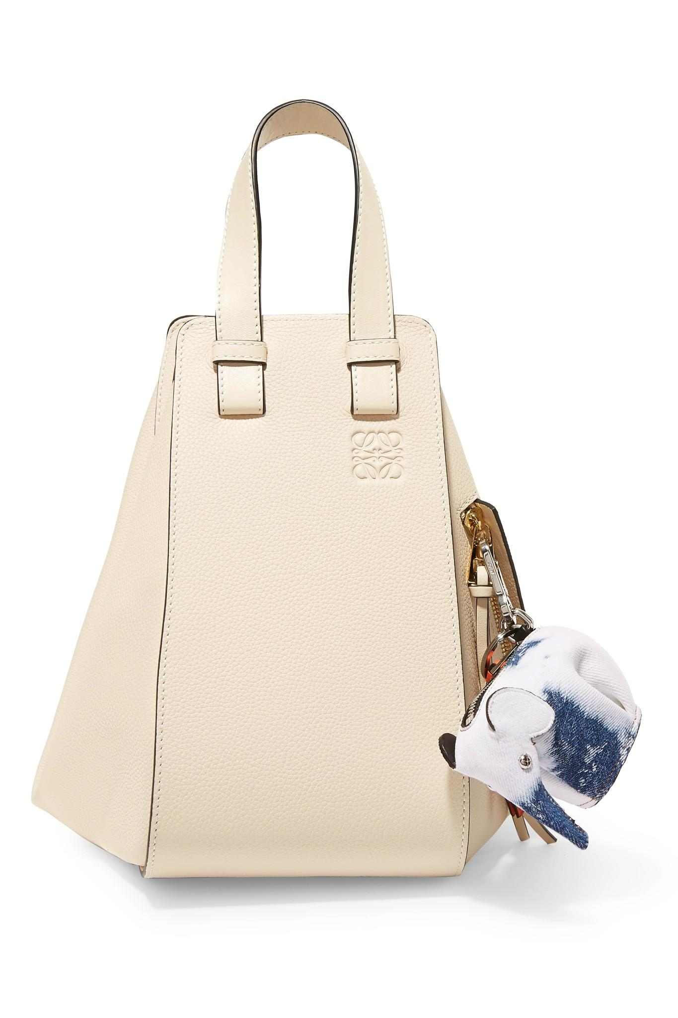 Loewe Elephant Leather-trimmed Denim Bag Charm - Blue tFmbxKN