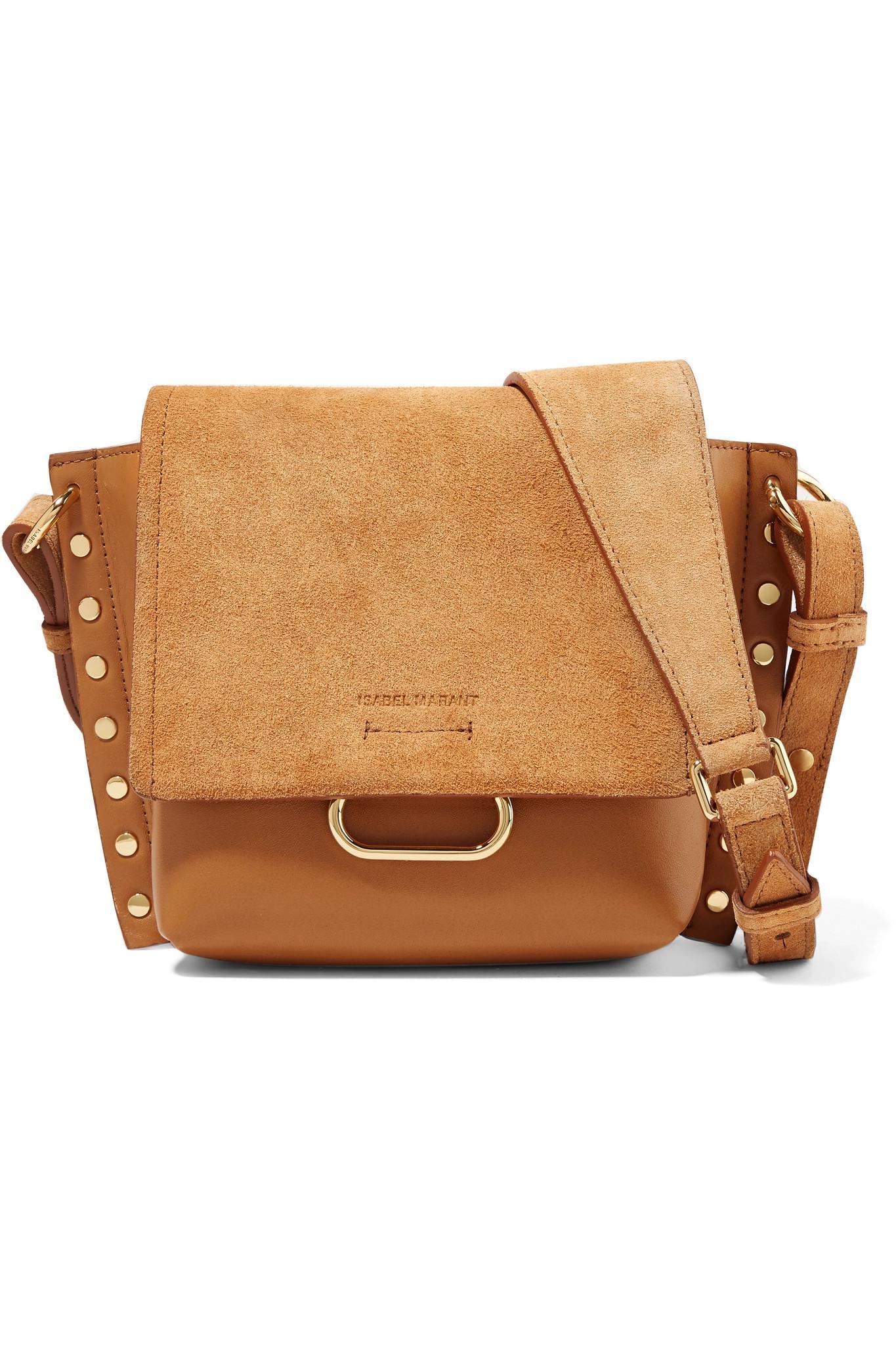 c07457448a Isabel Marant. Women s Brown Kleny Embellished Leather And Suede Shoulder  Bag