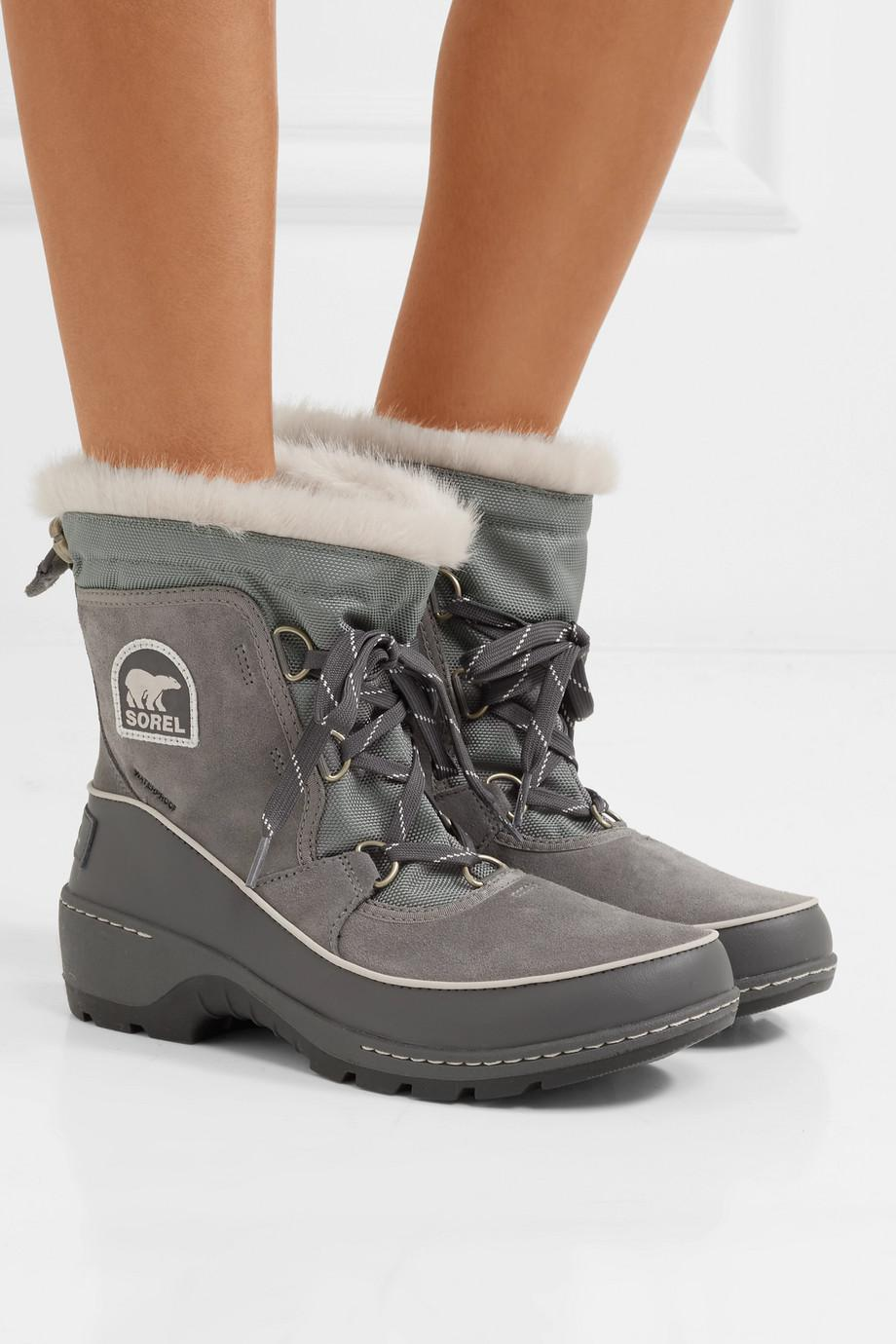 Torino Waterproof Suede, Shell And Leather Ankle Boots - Gray Sorel