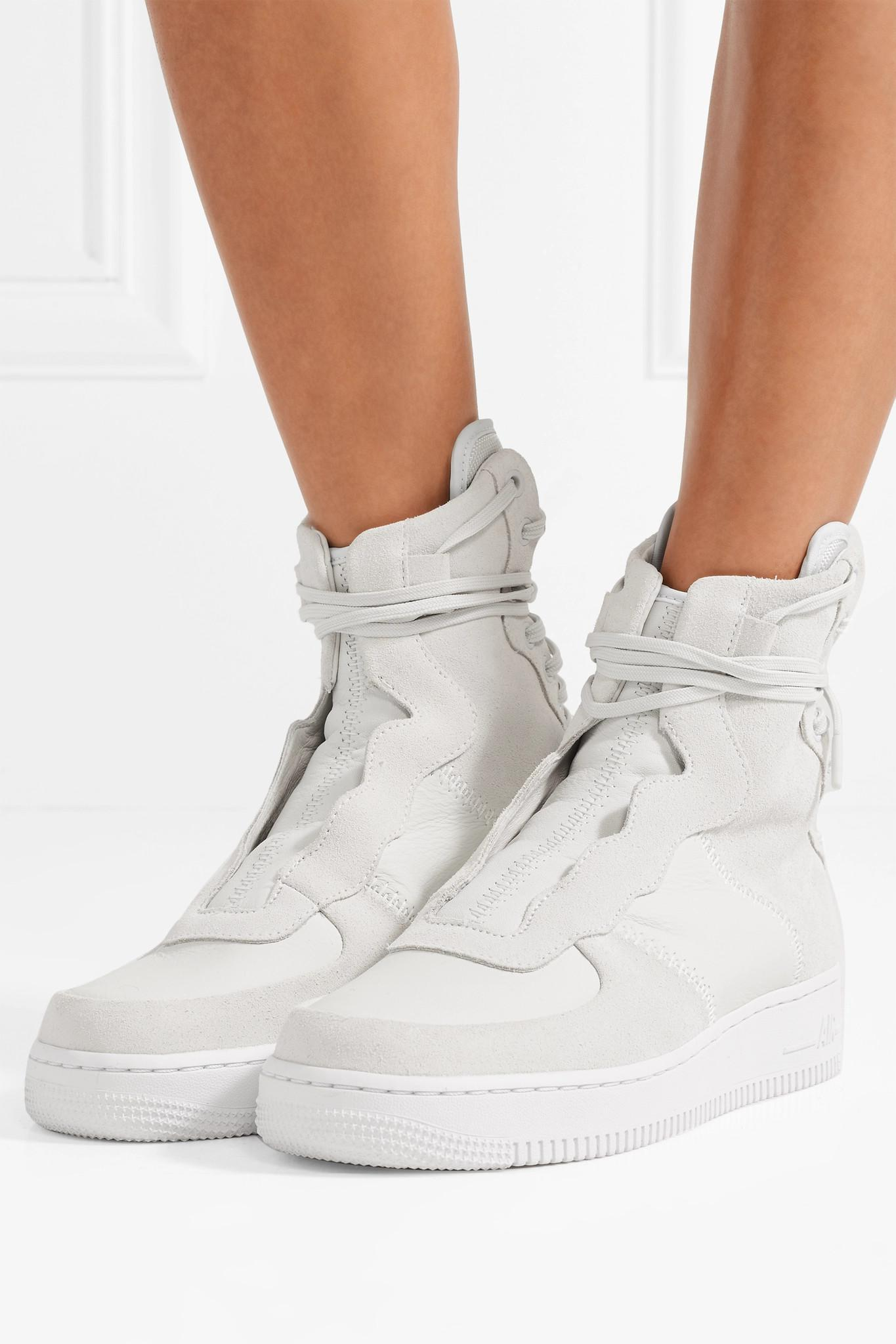 ee9711db099d Nike The 1 s Reimagined Air Force 1 Rebel Xx Suede And Leather High ...