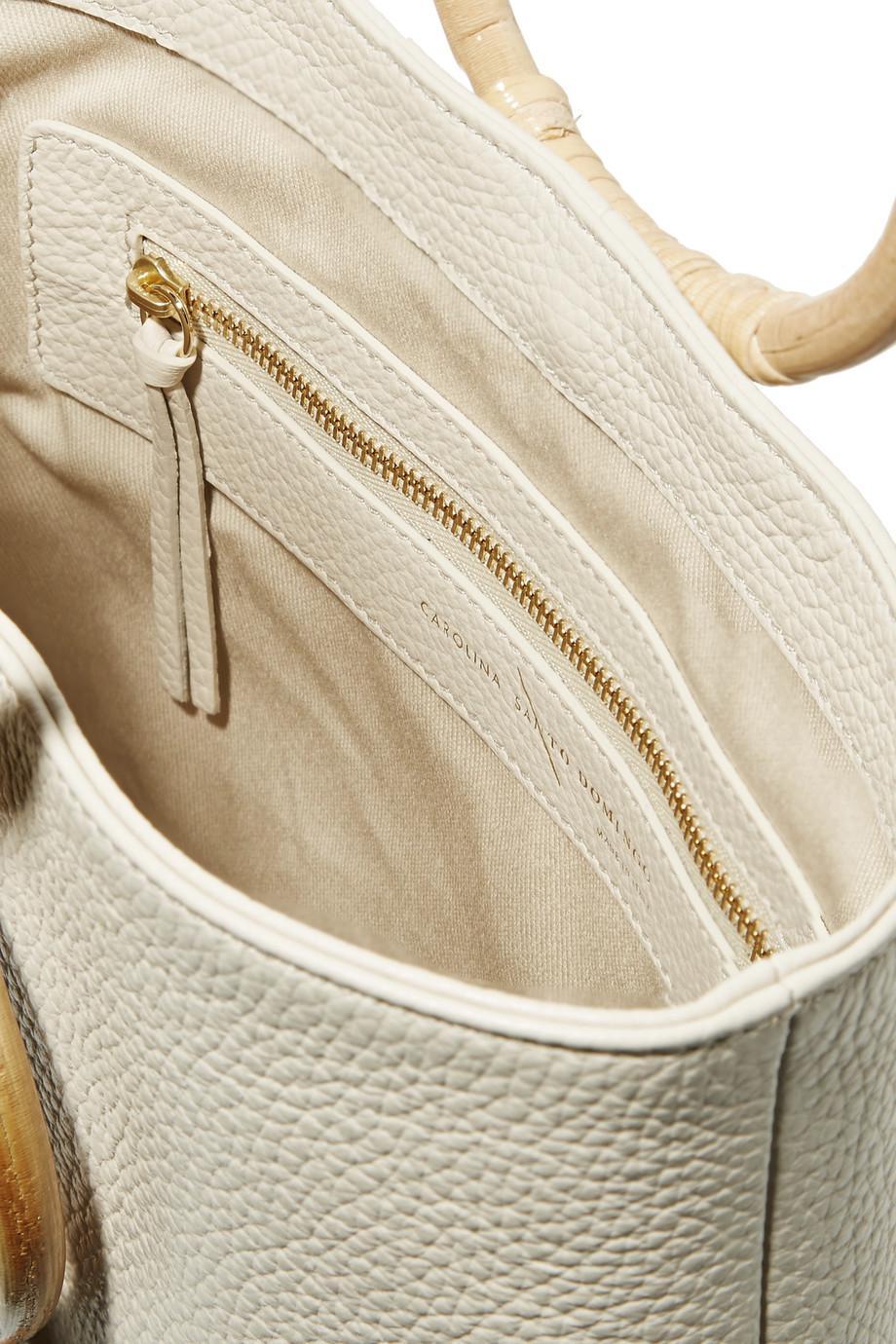 best website b0910 e679b carolina-santo-domingo-ivory-Petra-Mini-Textured-leather-Tote.jpeg