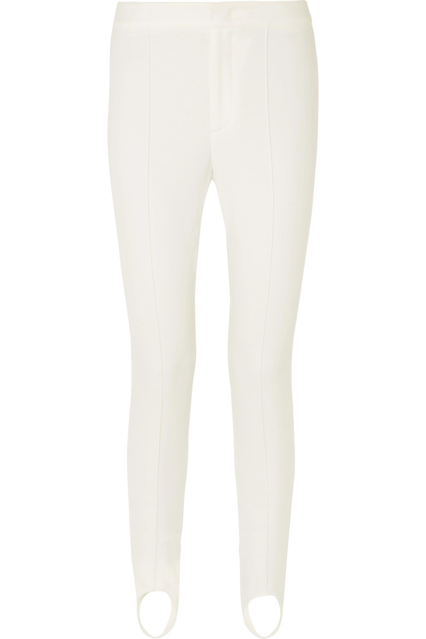 Lyst - Moncler Grenoble Stretch-twill Stirrup Ski Pants in White 5fc8928be