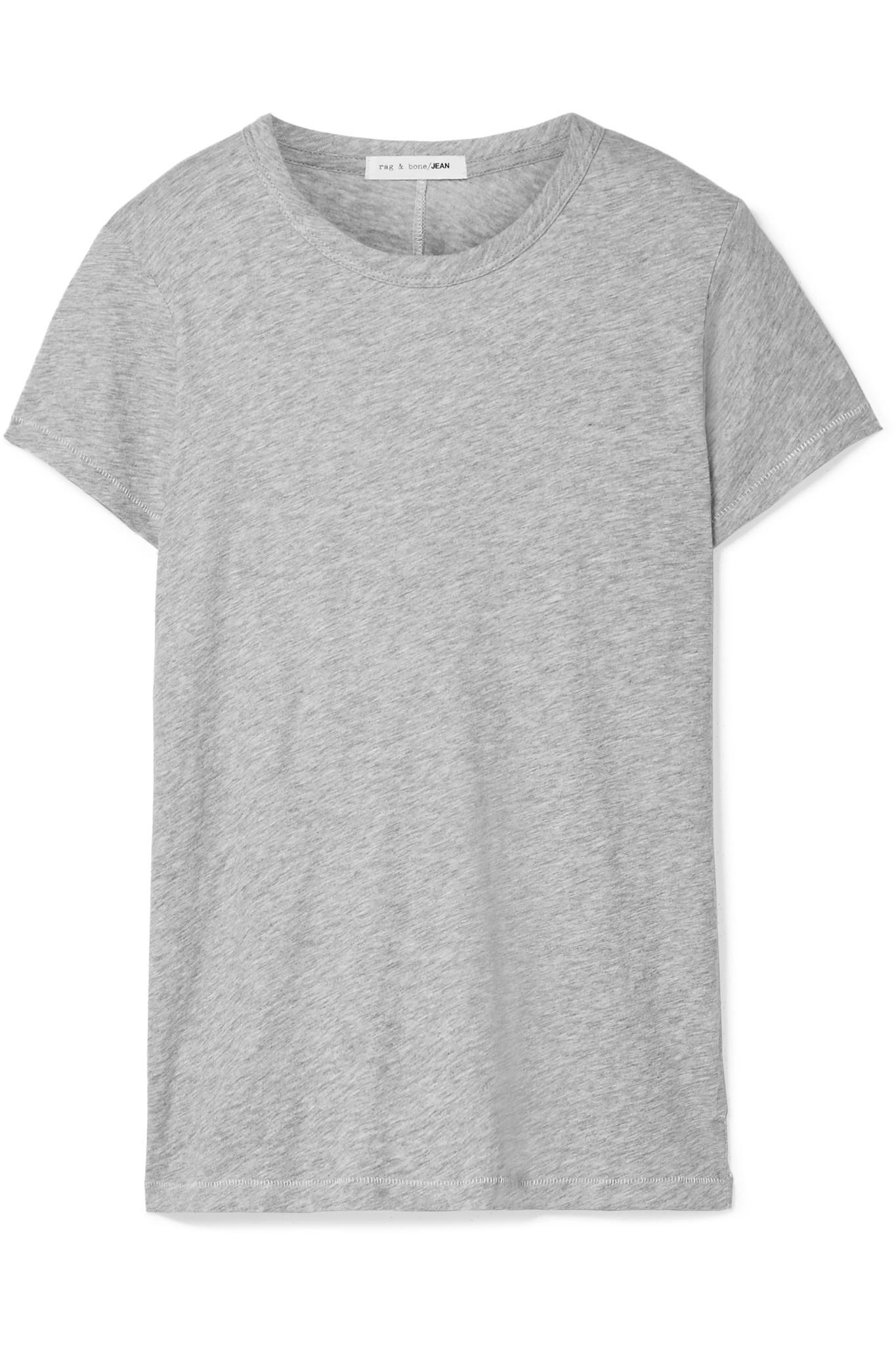 RAG&BONE Printed Slub Pima Cotton-jersey T-shirt k0NQa3IG