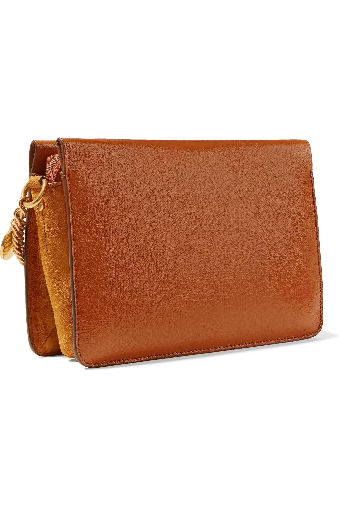 2e661dc9ccda Givenchy - Brown Gv Cross Suede-trimmed Leather Shoulder Bag - Lyst. View  fullscreen