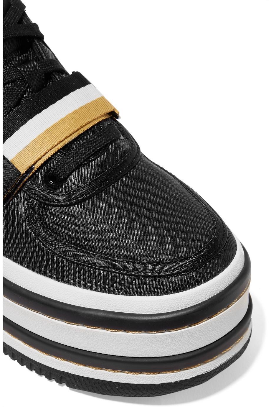 c546ae618122 Lyst - Nike Vandal 2k Metallic Faux Leather-trimmed Faille Platform ...