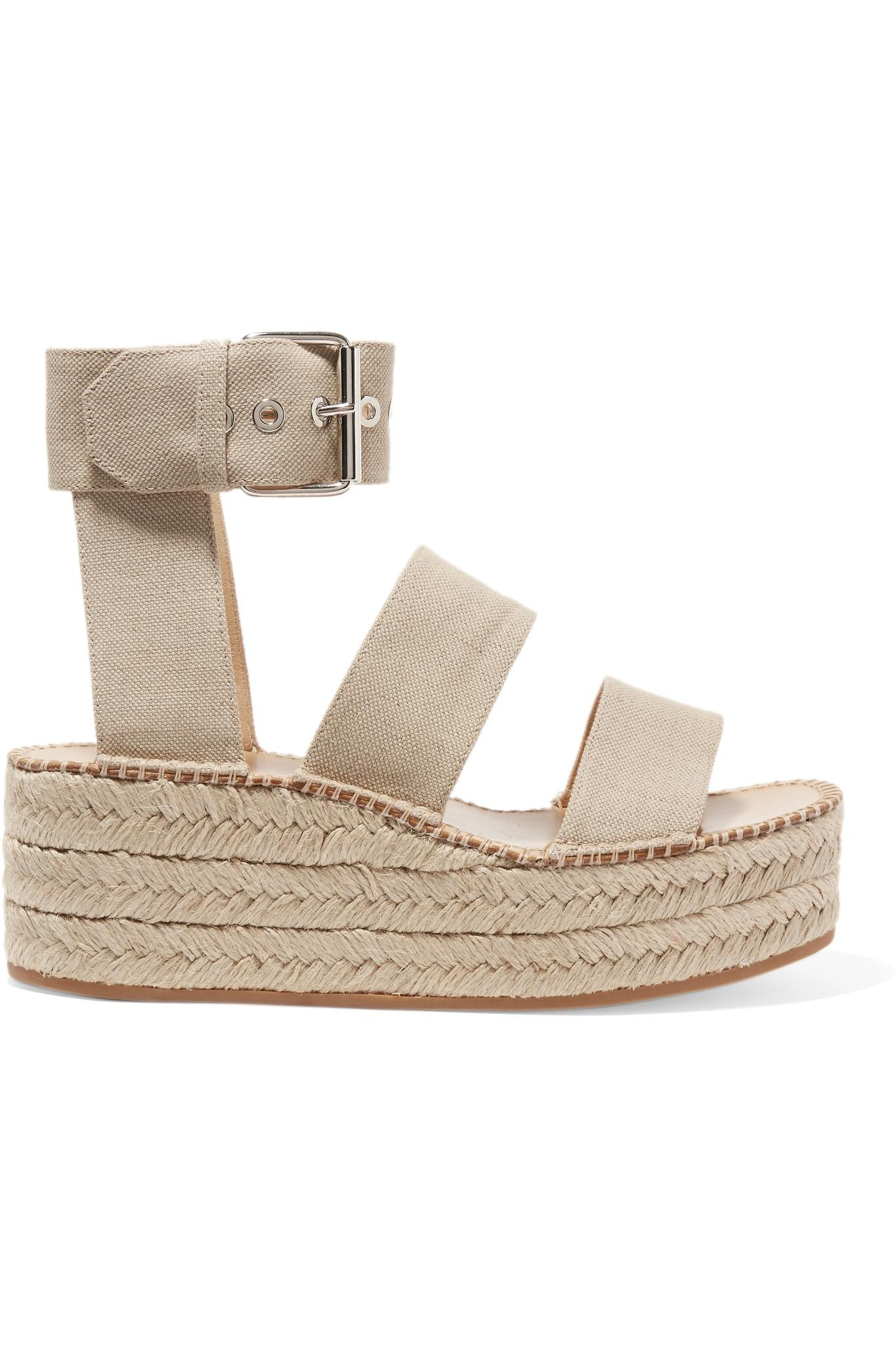 343b41555ab32 Lyst - Rag   Bone Woman Tara Canvas Platform Espadrille Sandals ...