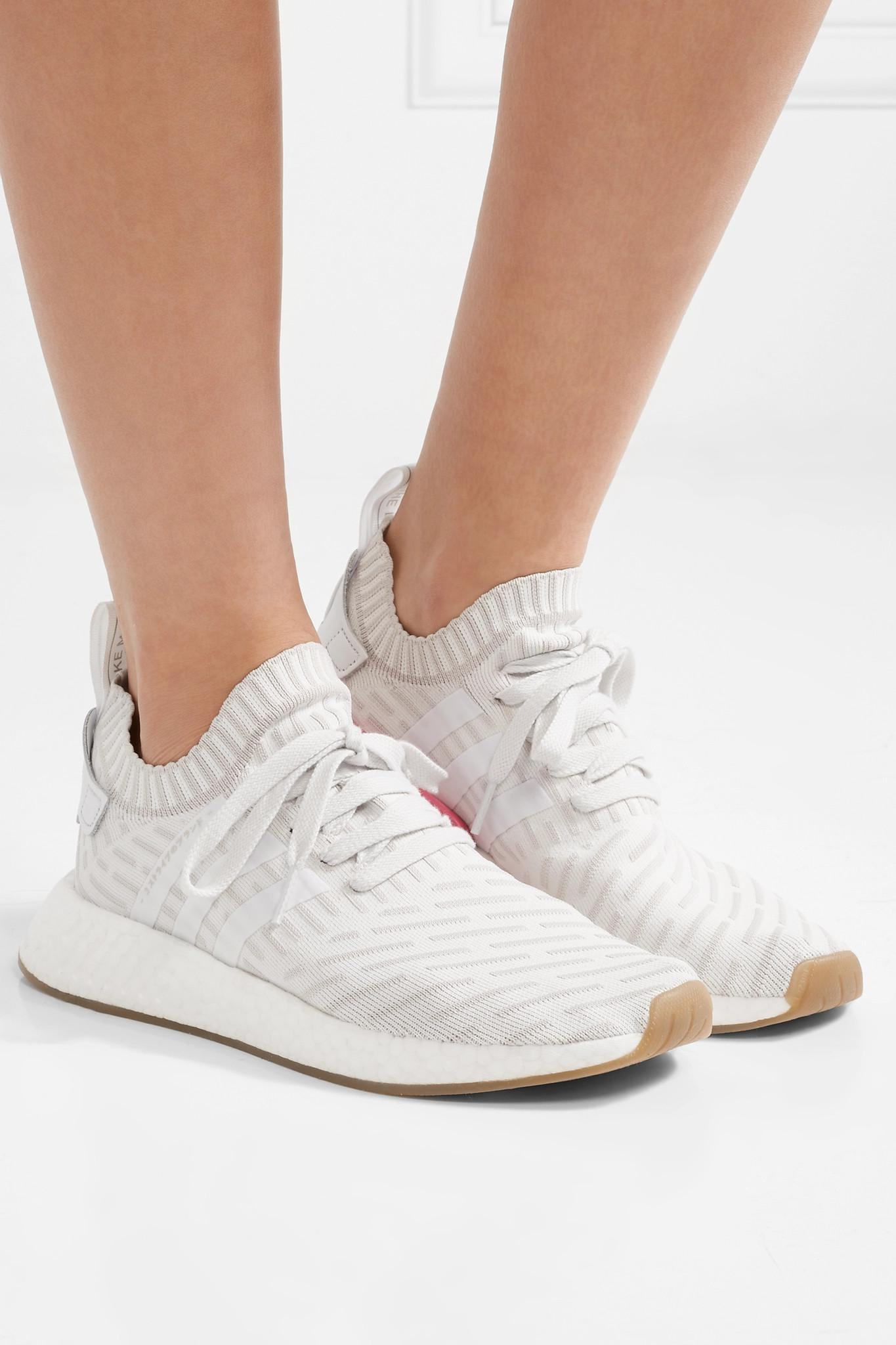 b9d3d2c1c Lyst - adidas Originals Nmd r2 Leather-trimmed Primeknit Sneakers in ...