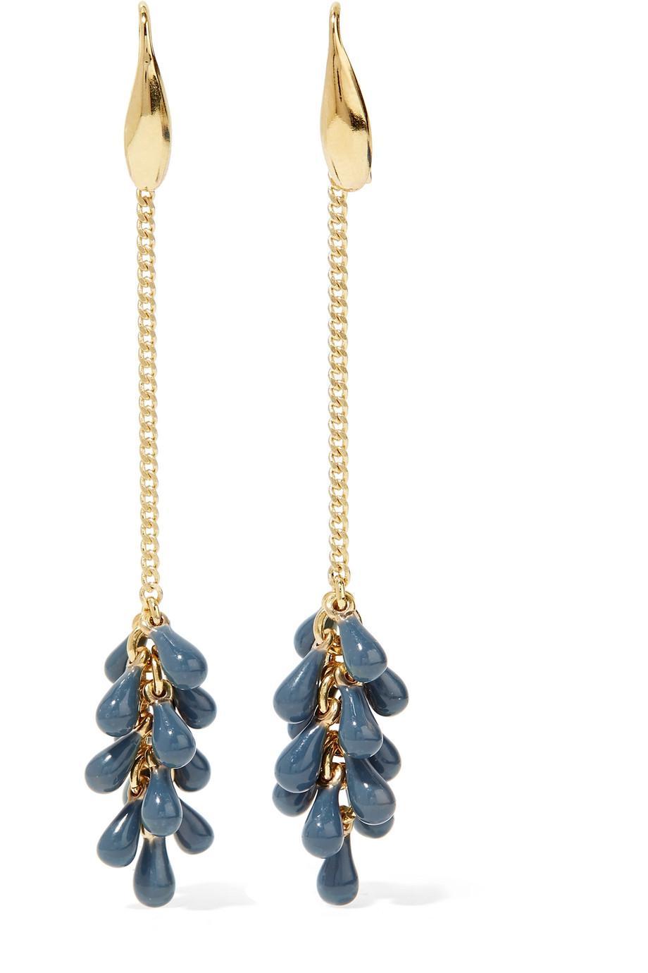 02e94d4774 Lyst - Isabel Marant Gold-tone Beaded Earrings in Metallic