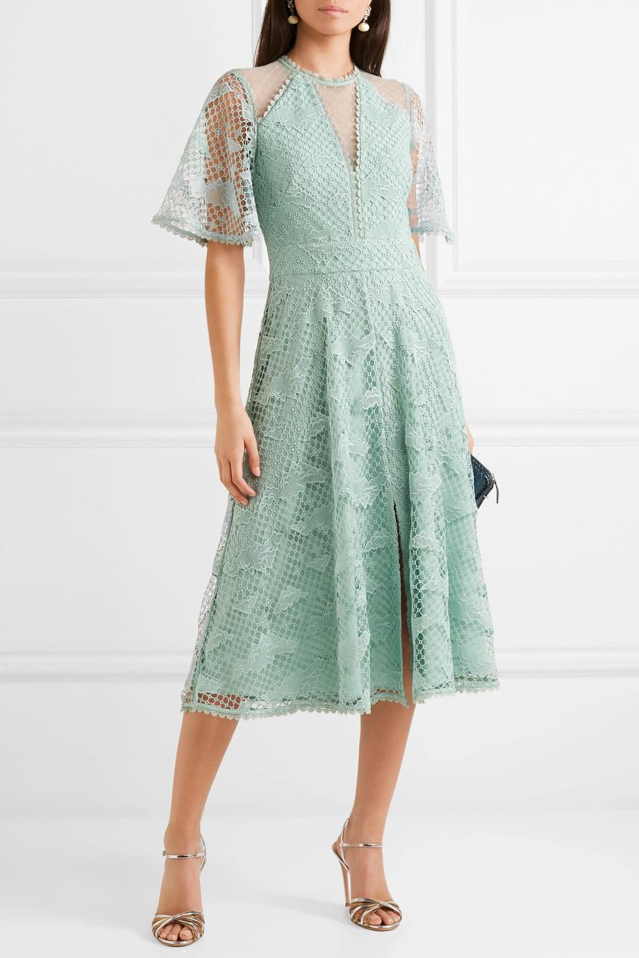 Haze Guipure Lace And Tulle Dress - Mint Temperley London TQAyIi1C4k