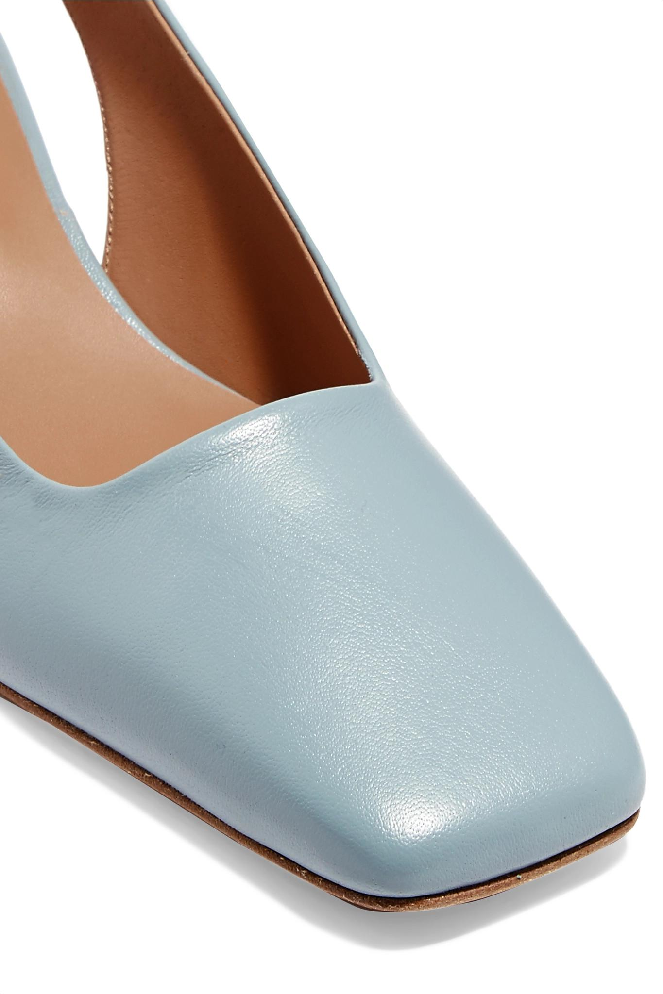 7c27ee18d129 Lyst - BY FAR Danielle Leather Slingback Pumps in Blue