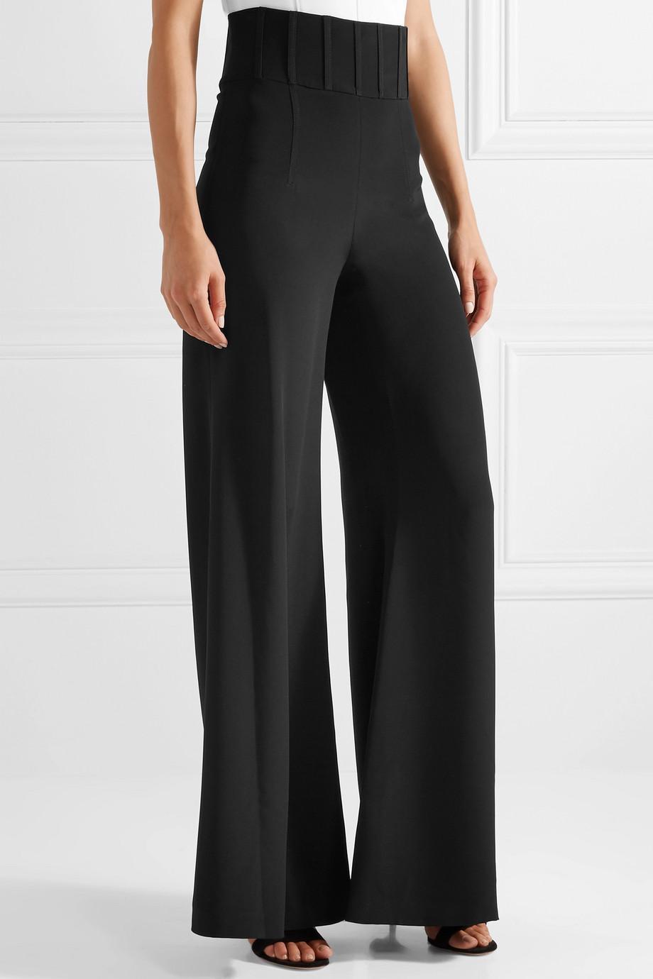 Jade Silk-crepe Wide-leg Pants - Black Cushnie et Ochs VgPqV50Gy8