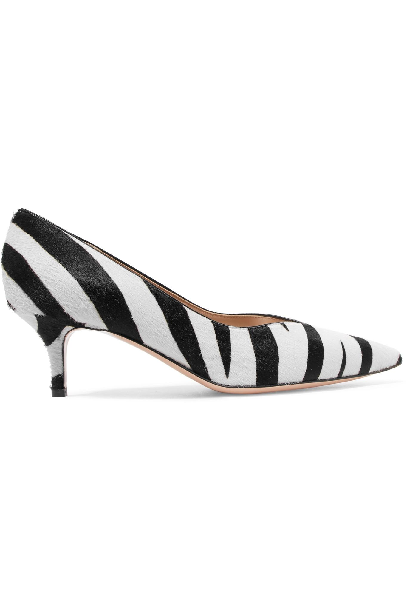 55 Zebra-print Calf Hair Mules - Zebra print Gianvito Rossi Official Site Cheap Price Buy Cheap With Paypal Discount Best Seller Discount For Nice Shop For Online V76l4lTXfz