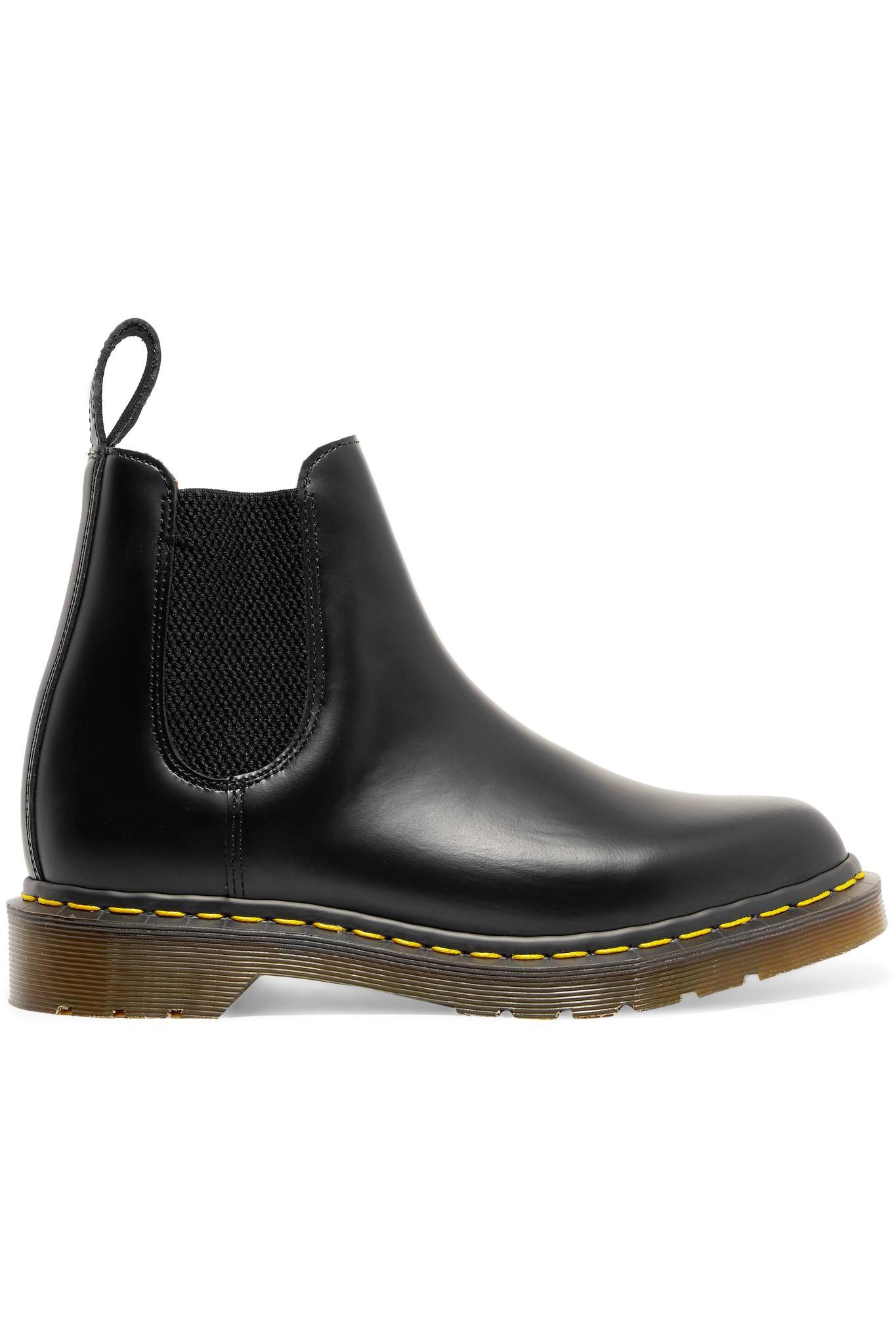 67baa66634c Comme des Garçons + Dr Martens Leather Chelsea Boots in Black - Lyst