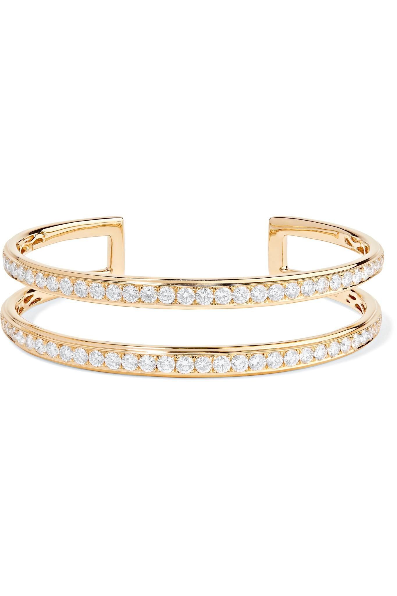 Anita Ko 18-karat Gold Diamond Cuff E1plL8
