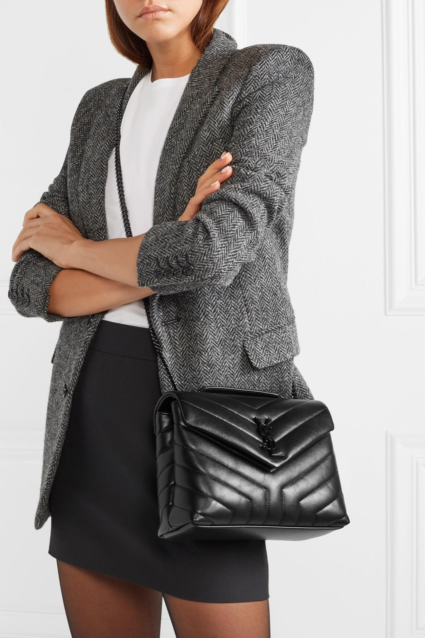 7a241b19749 Saint Laurent - Black Loulou Small Quilted Leather Shoulder Bag - Lyst.  View fullscreen