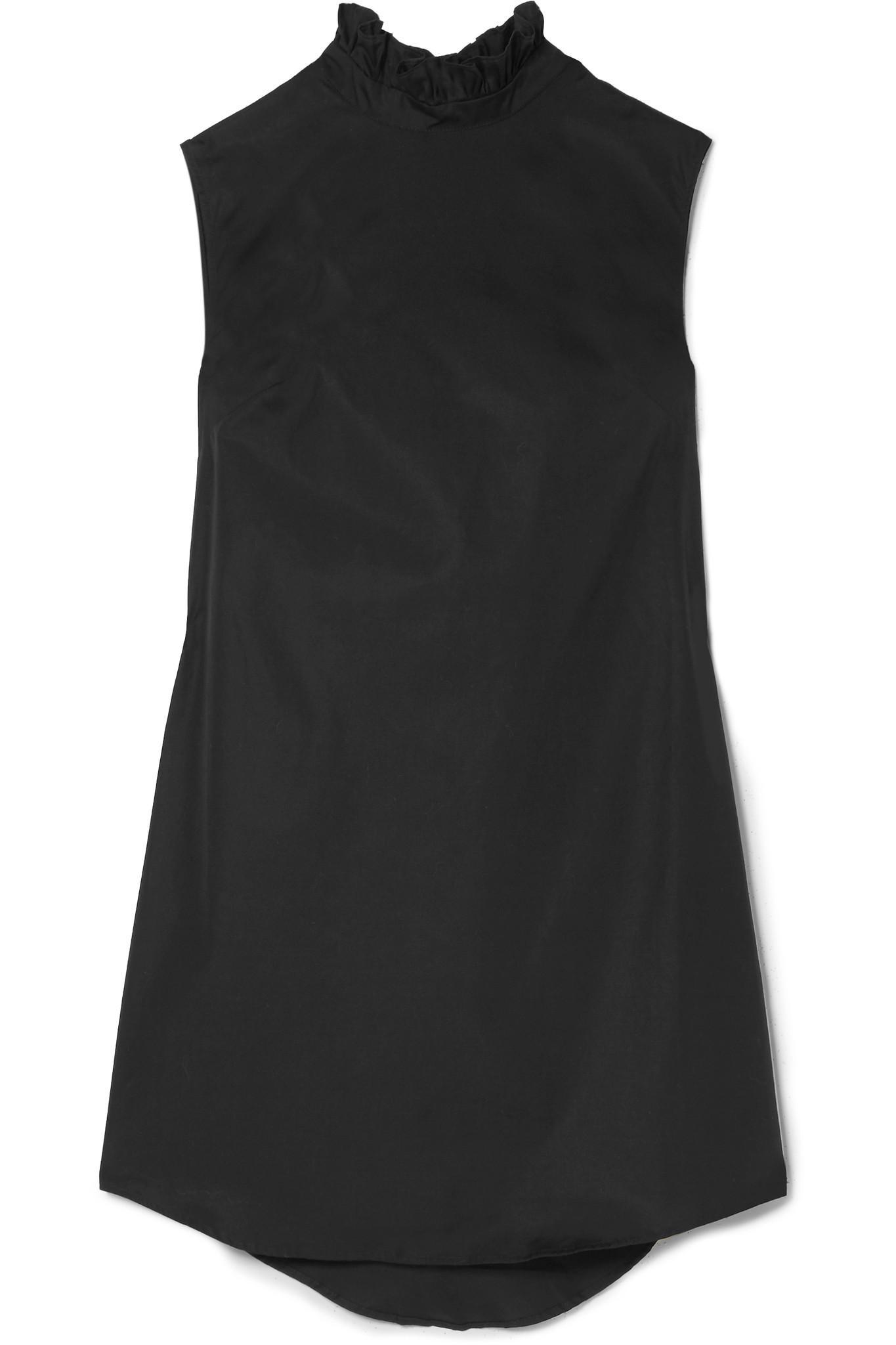 Ruffled Cotton Mini Dress - Black Cecilie Bahnsen 3hrQXDhl