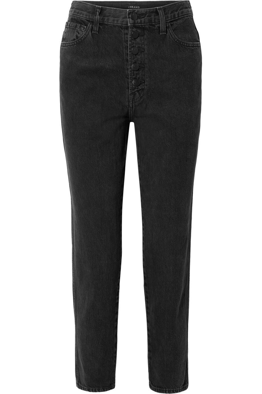 Heather Cropped High-rise Straight-leg Jeans - Black J Brand oYYyrn