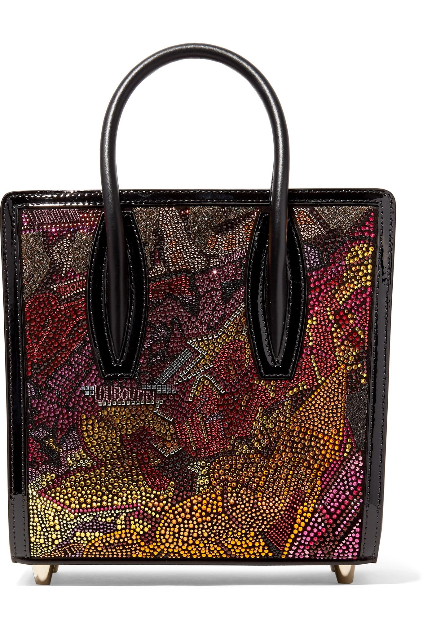77a16ecde3c Christian Louboutin. Women s Paloma Small Embellished Printed Leather Tote