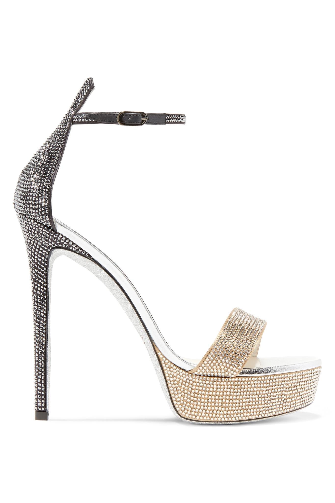 f9deb2d2cd79bb Rene Caovilla. Women s Celebrita Crystal-embellished Leather Platform  Sandals