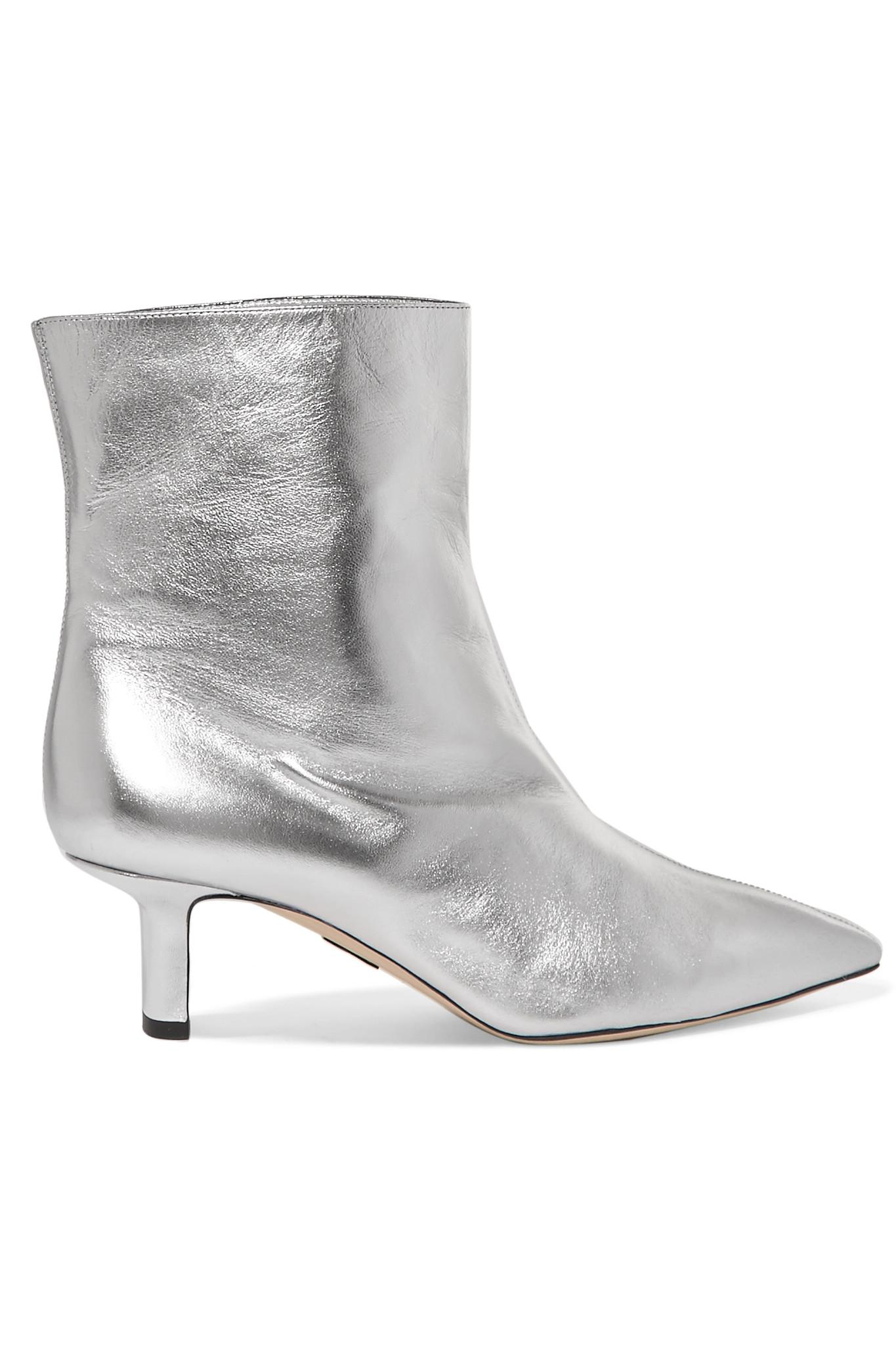 Sale Best Store To Get Cheapest Price For Sale Mangold Metallic Leather Ankle Boots - Silver PAUL ANDREW dlOEs3nm0