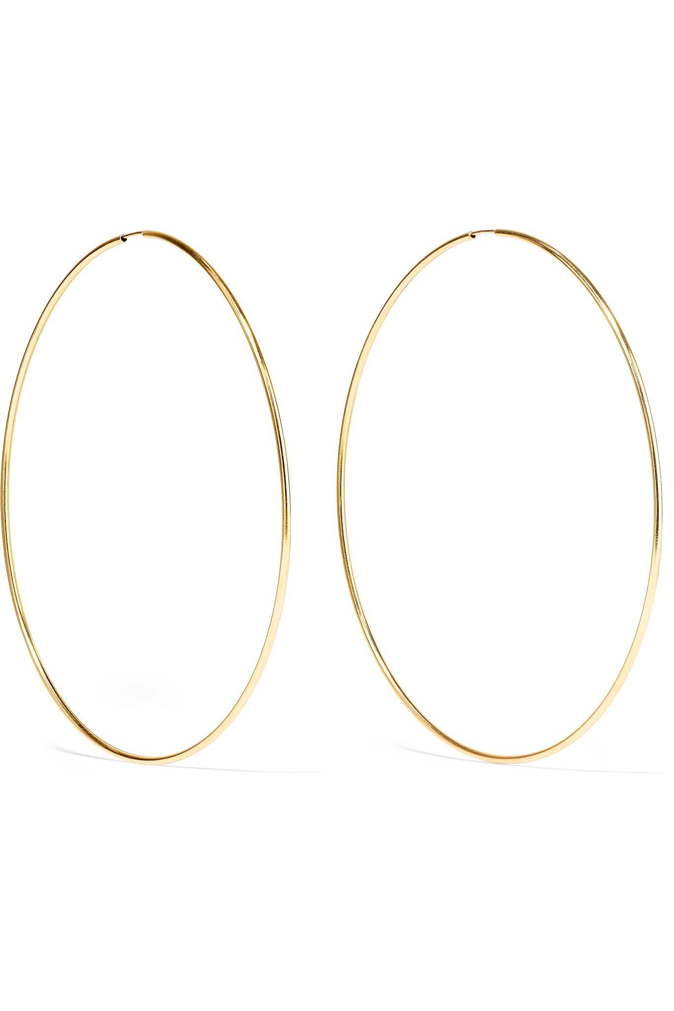 Loren Stewart Infinity 10 Karat Gold Hoop Earrings Gold One Size In