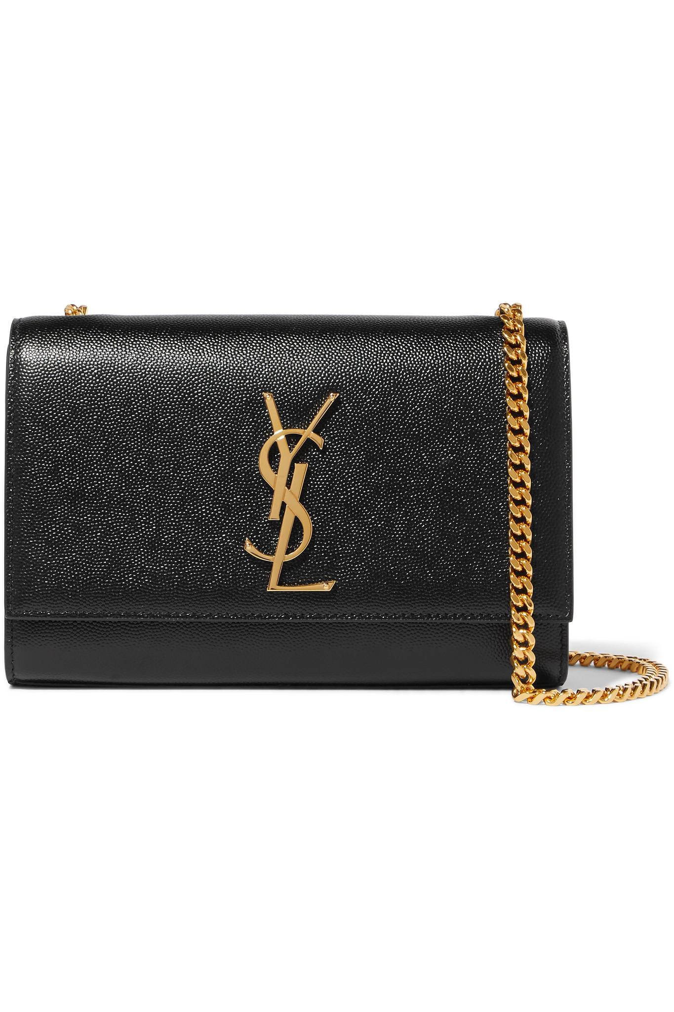 Saint Laurent. Women s Black Monogramme Kate Small Textured-leather  Shoulder Bag 6362832e8b9be