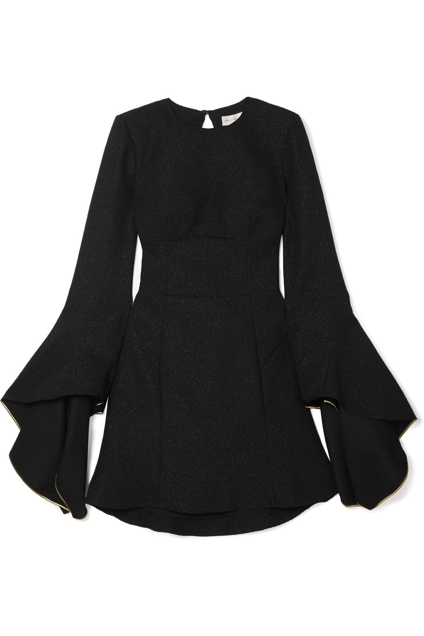 Belize Dos Ouvert Scintillait Tweed Mini Robe - Noir Rebecca Vallance De La France La Vente En Ligne utU4WfFCI