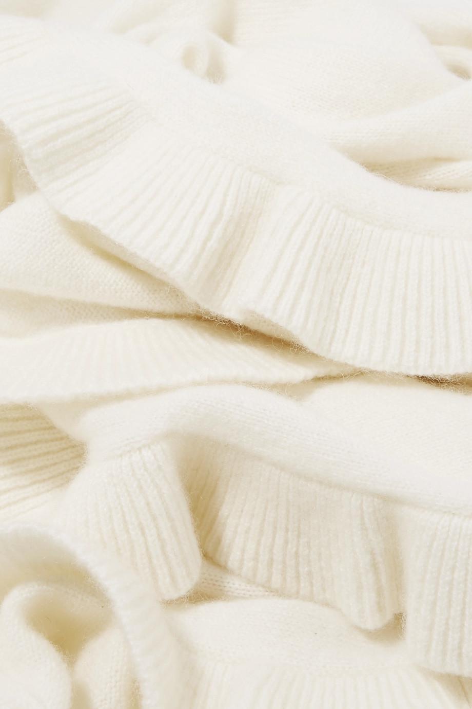 Ava Ruffled Cashmere Scarf - Off-white Madeleine Thompson 3IrHC0q