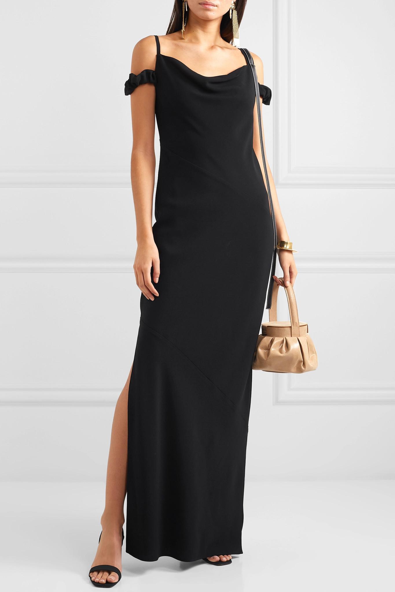 Loewe - Black Crêpe Maxi Dress - Lyst. View fullscreen 46ea36b76