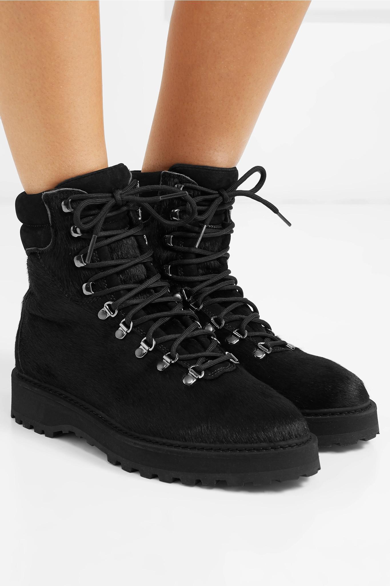387d852687c Diemme Monfumo Calf Hair Ankle Boots in Black - Lyst