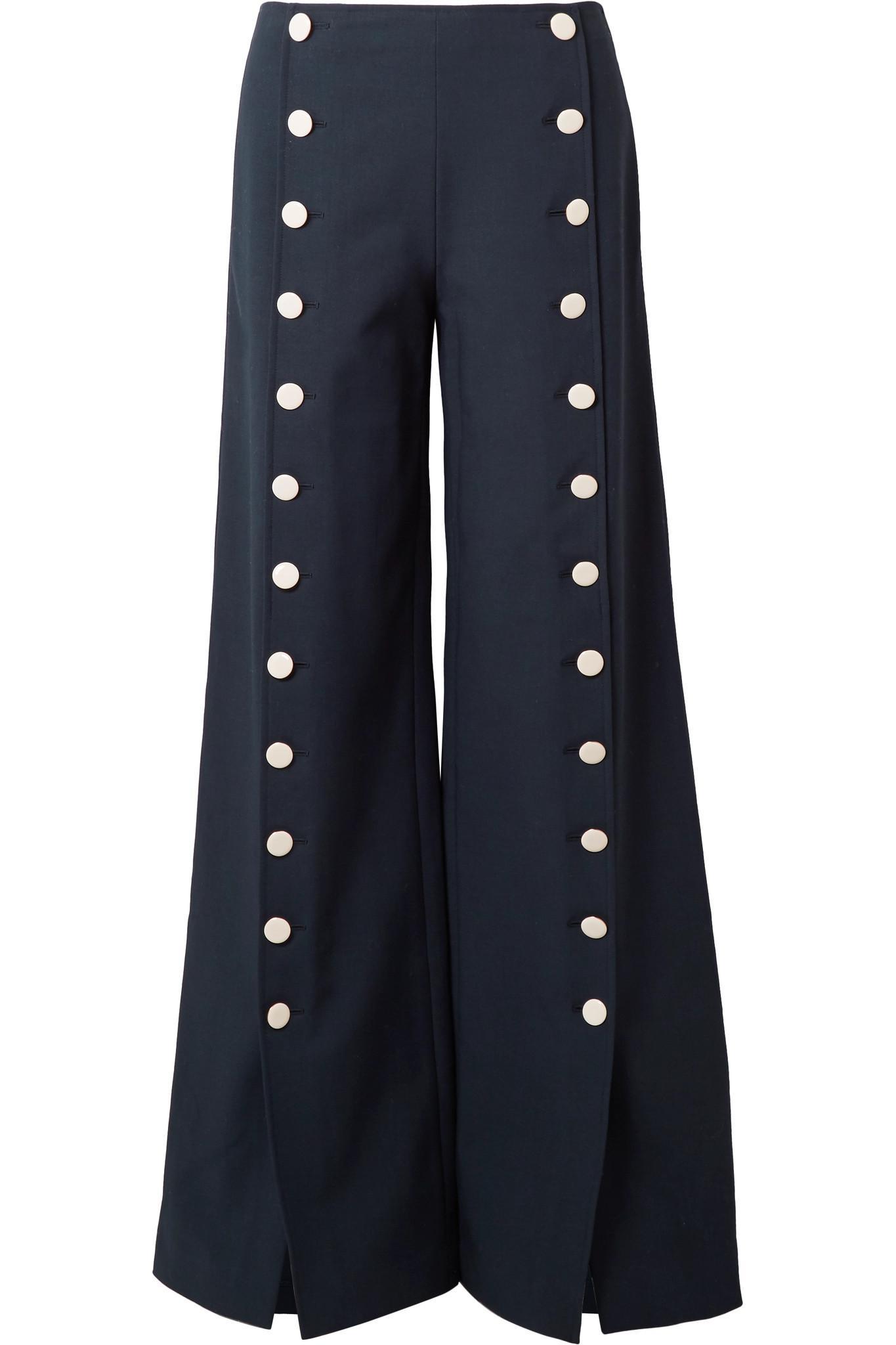Pantalon En Crêpe De Bouton-embelli Carrie Jambes Larges - Tory Marine Burch 5F4iaZbCe