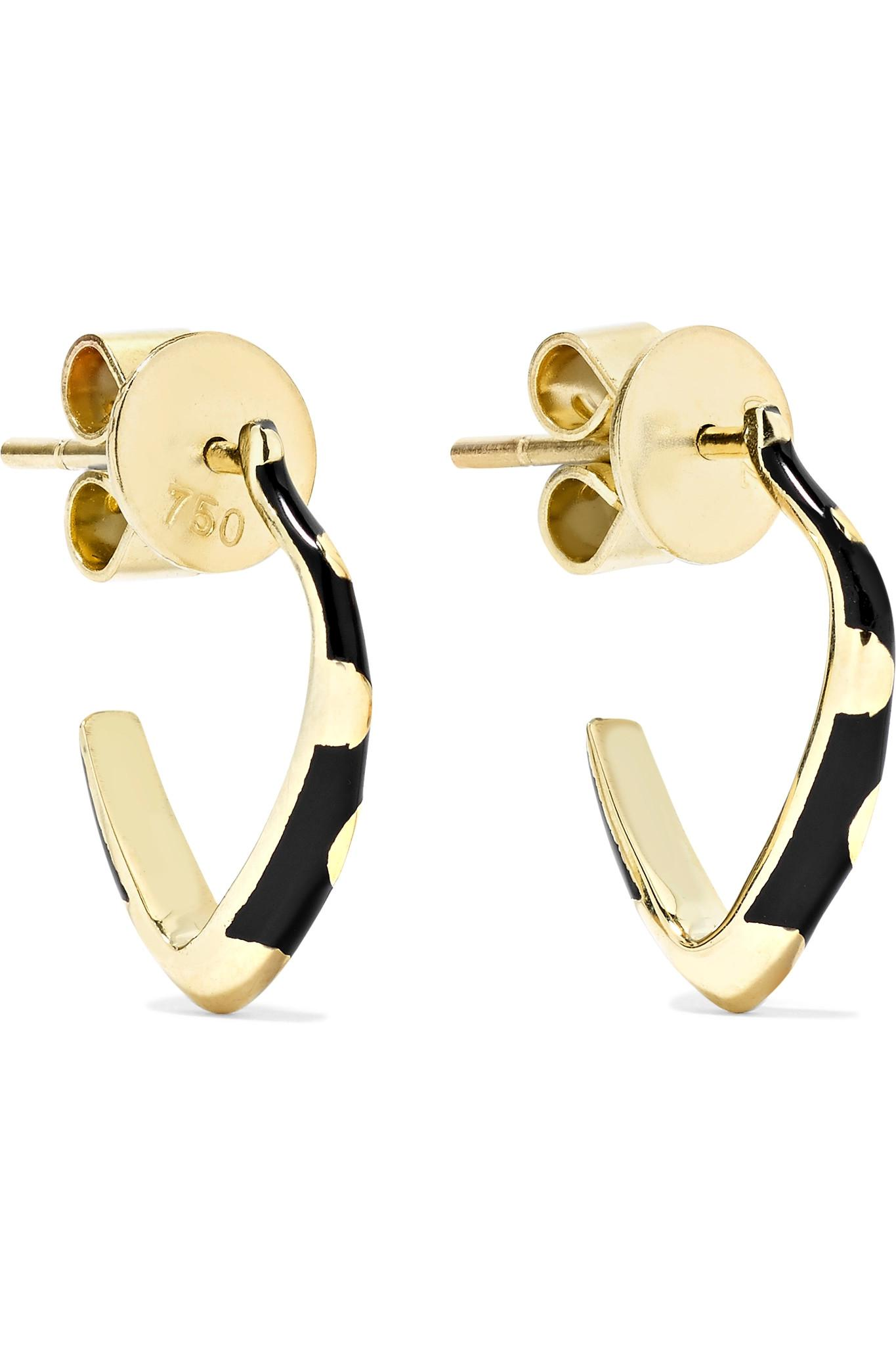 Alice Cicolini Memphis Candy Enameled 14-karat Gold Diamond Earrings