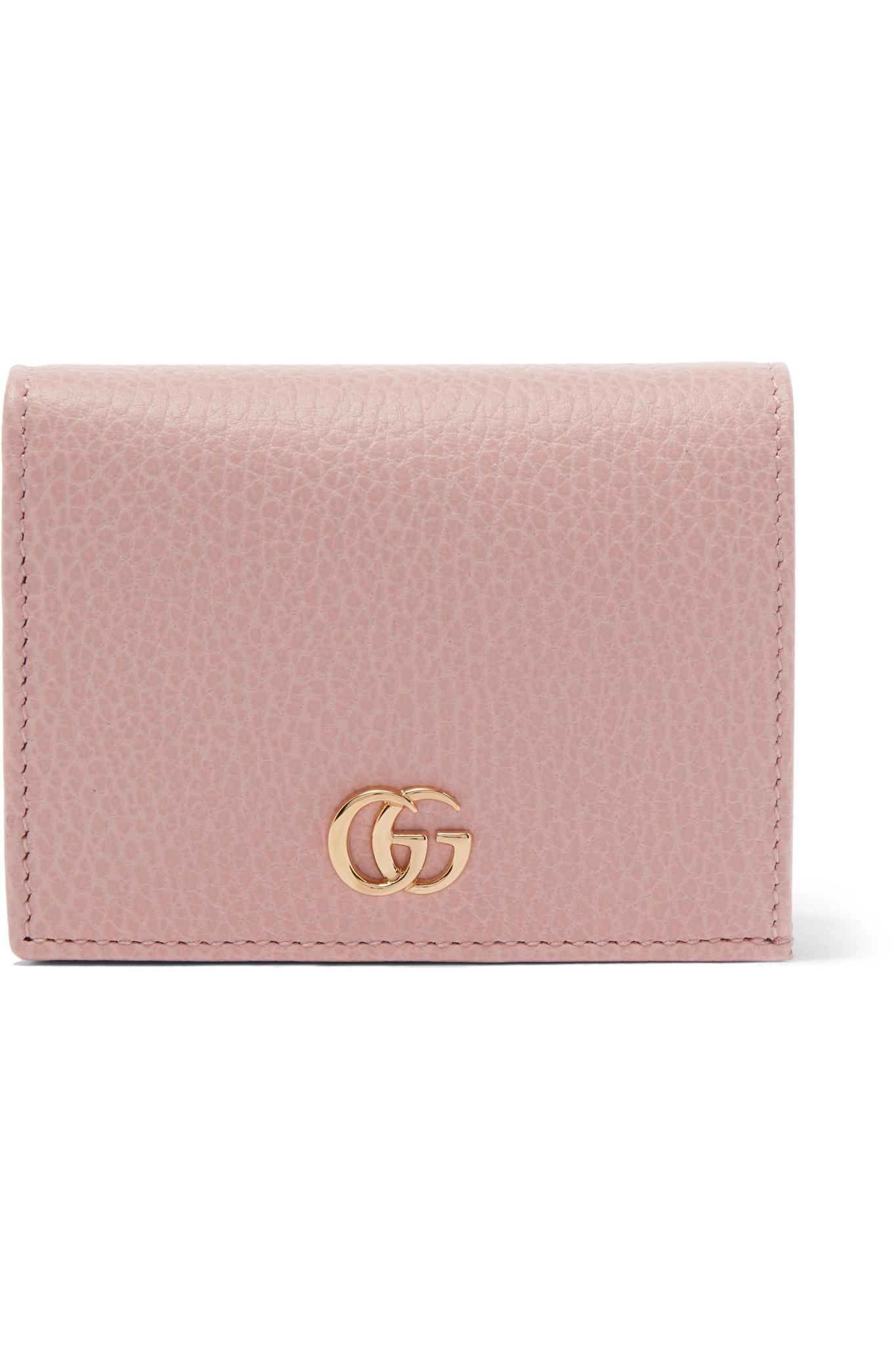 084390864d3dc8 Gucci Marmont Petite Textured-leather Wallet in Pink - Lyst