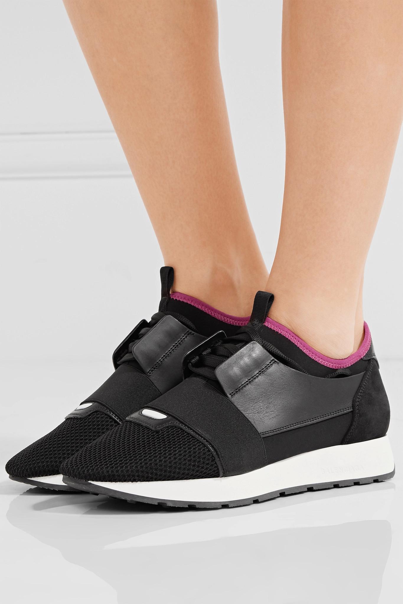BalenciagaRace Runner Leather & Mesh Sneakers QR0UyQ6I
