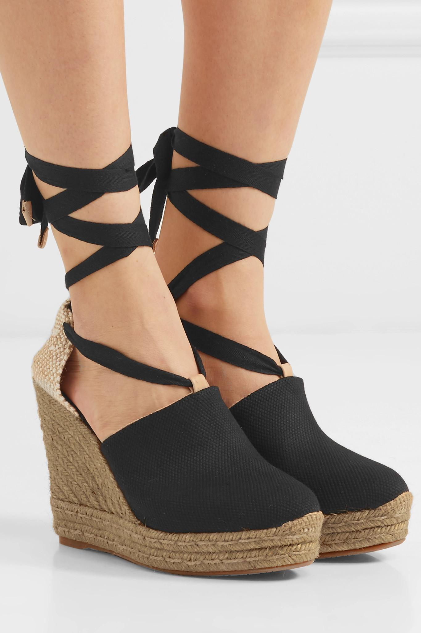 f6581bfe0ef Castaner - Black Nerea 120 Canvas Wedge Espadrilles - Lyst. View fullscreen