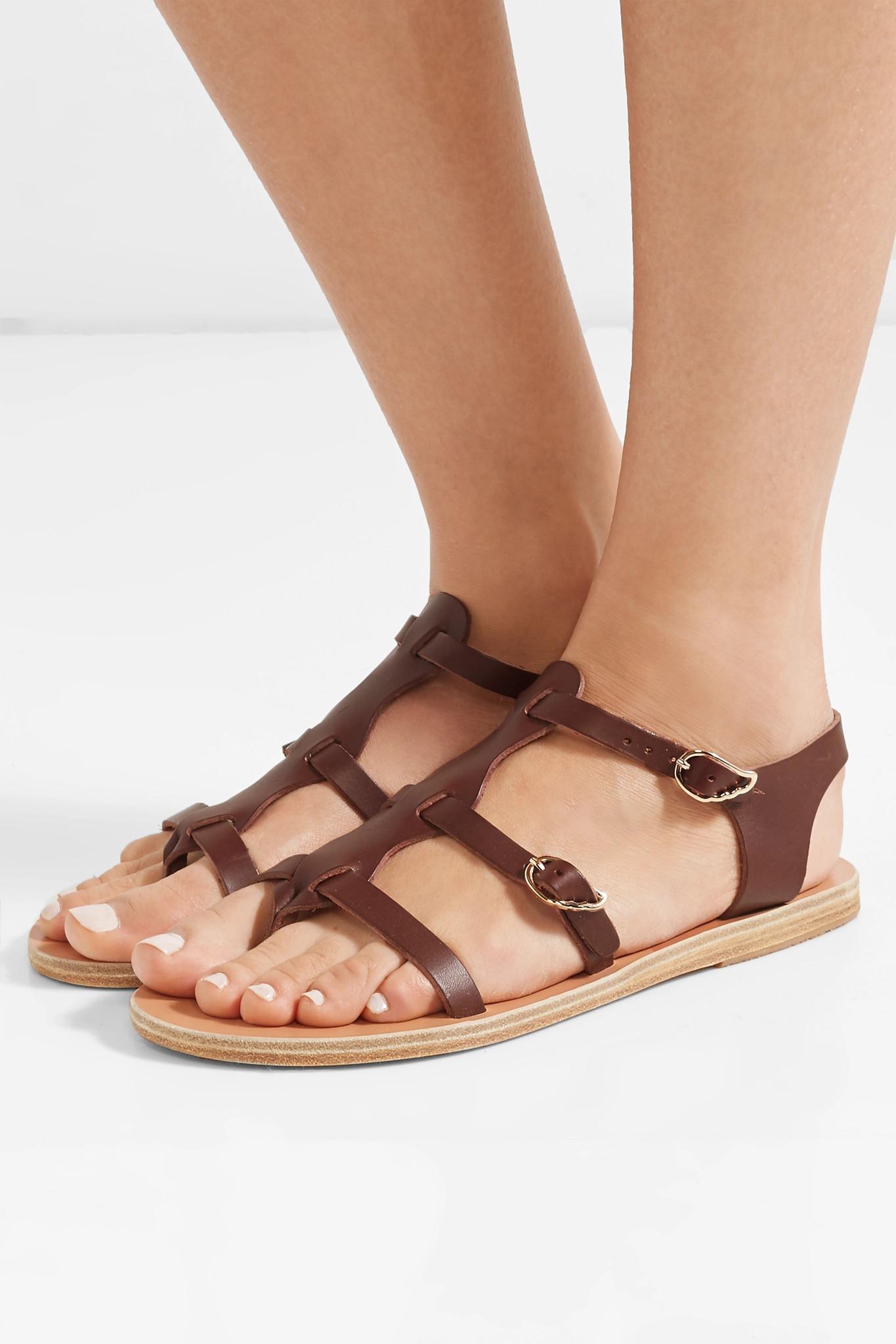 fbd5b8d87 Ancient Greek Sandals - Brown Grace Kelly Leather Sandals - Lyst. View  fullscreen