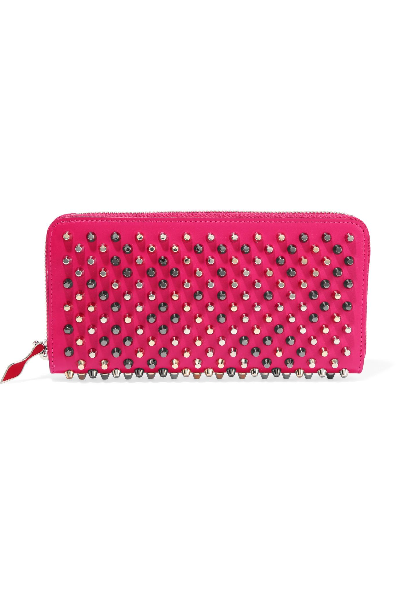 c112d59dbb Christian Louboutin. Women's Pink Panettone Studded Leather Continental  Wallet