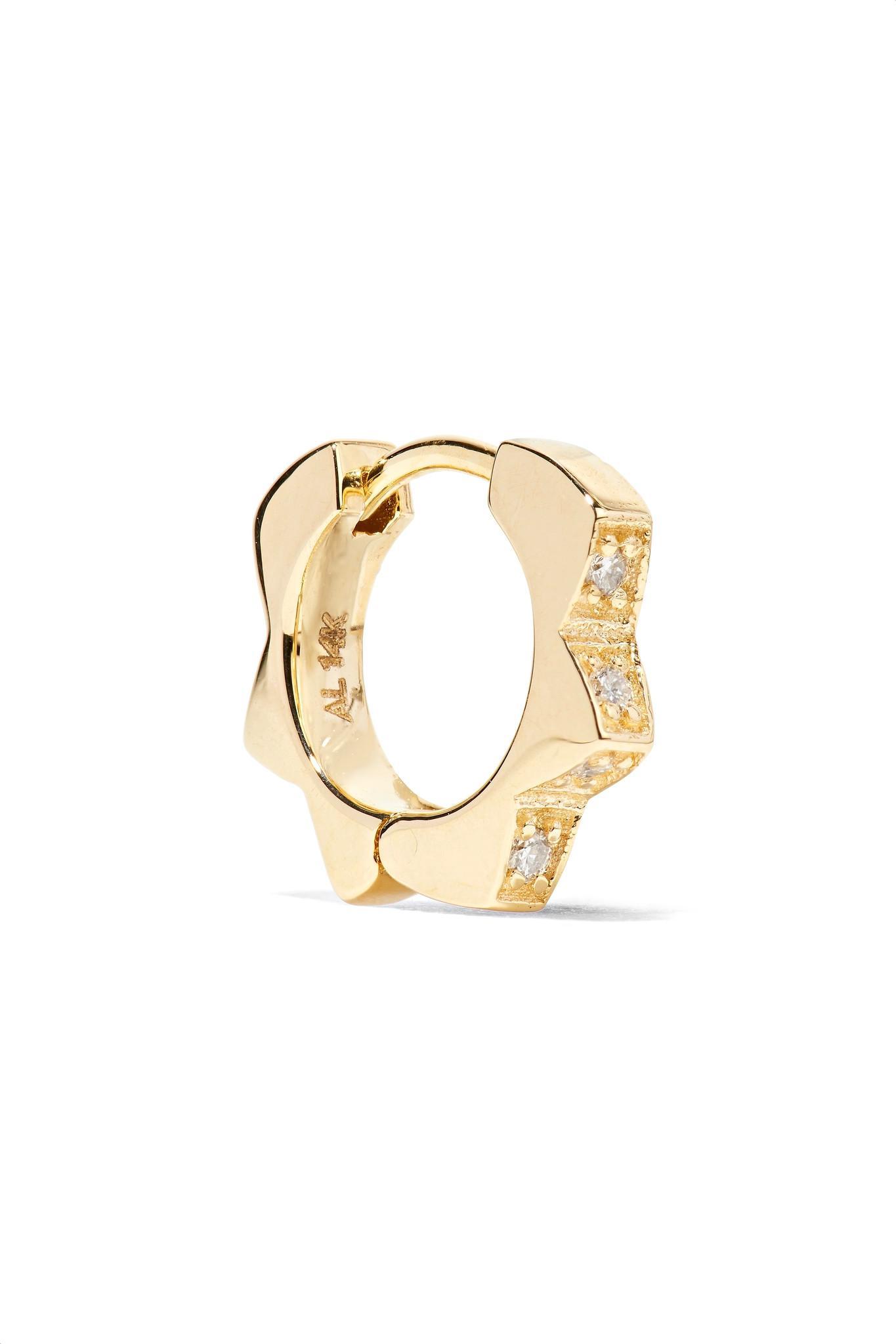 Bowtie Stud 14-karat Gold Earring - one size Alison Lou IRnU2Db3J