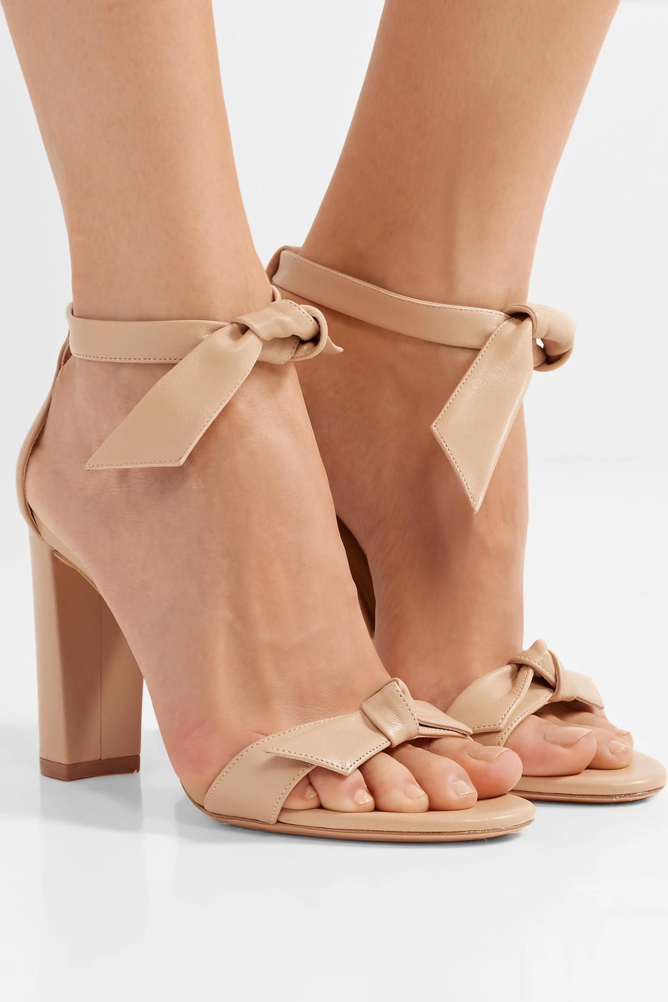 511fdd43e6a2 Alexandre Birman - Natural Clarita Bow-embellished Leather Sandals - Lyst.  View fullscreen