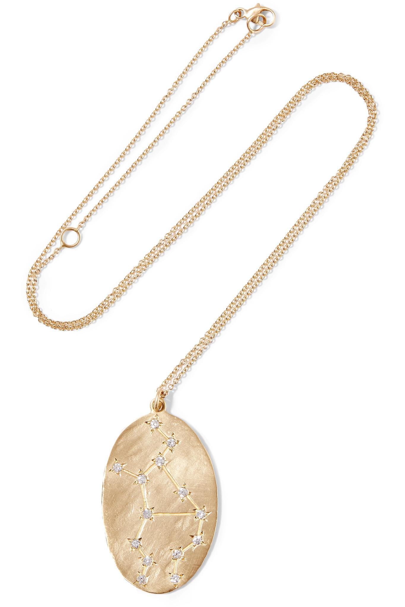 Sagittarius 14-karat Gold Diamond Necklace - one size Brooke Gregson DBp7iTx