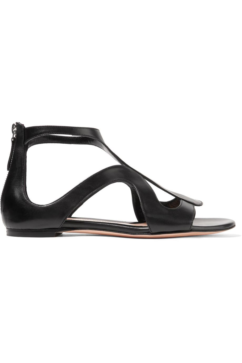 many kinds of clearance wiki Alexander McQueen Leather Cutout Sandals outlet footlocker d0lMXQ