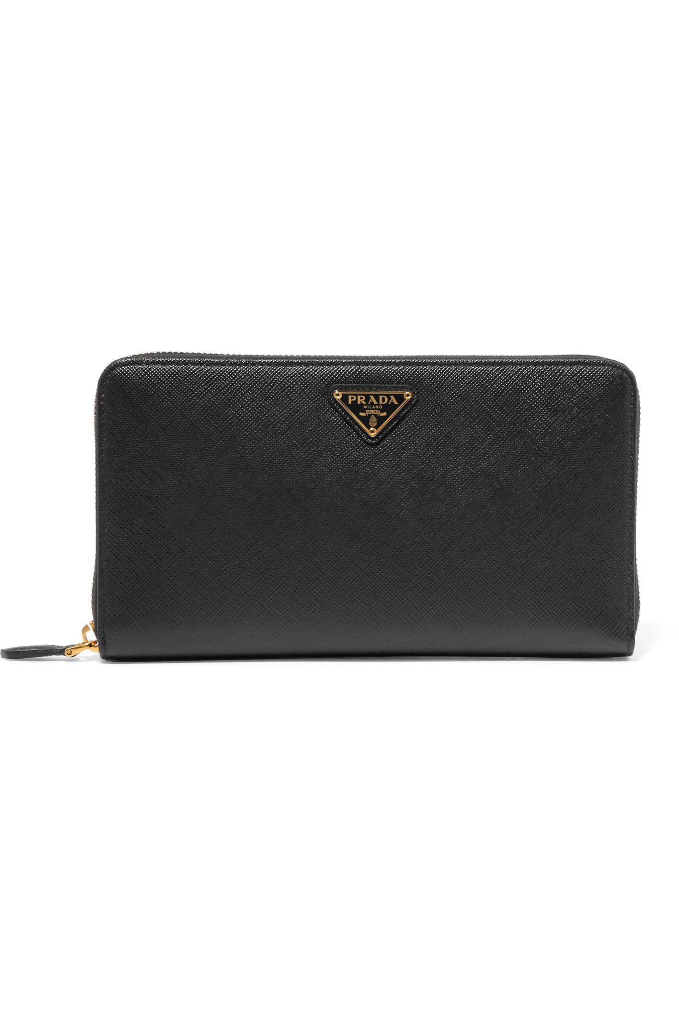 0754221327a00c Prada. Women's Travel Textured-leather Continental Wallet