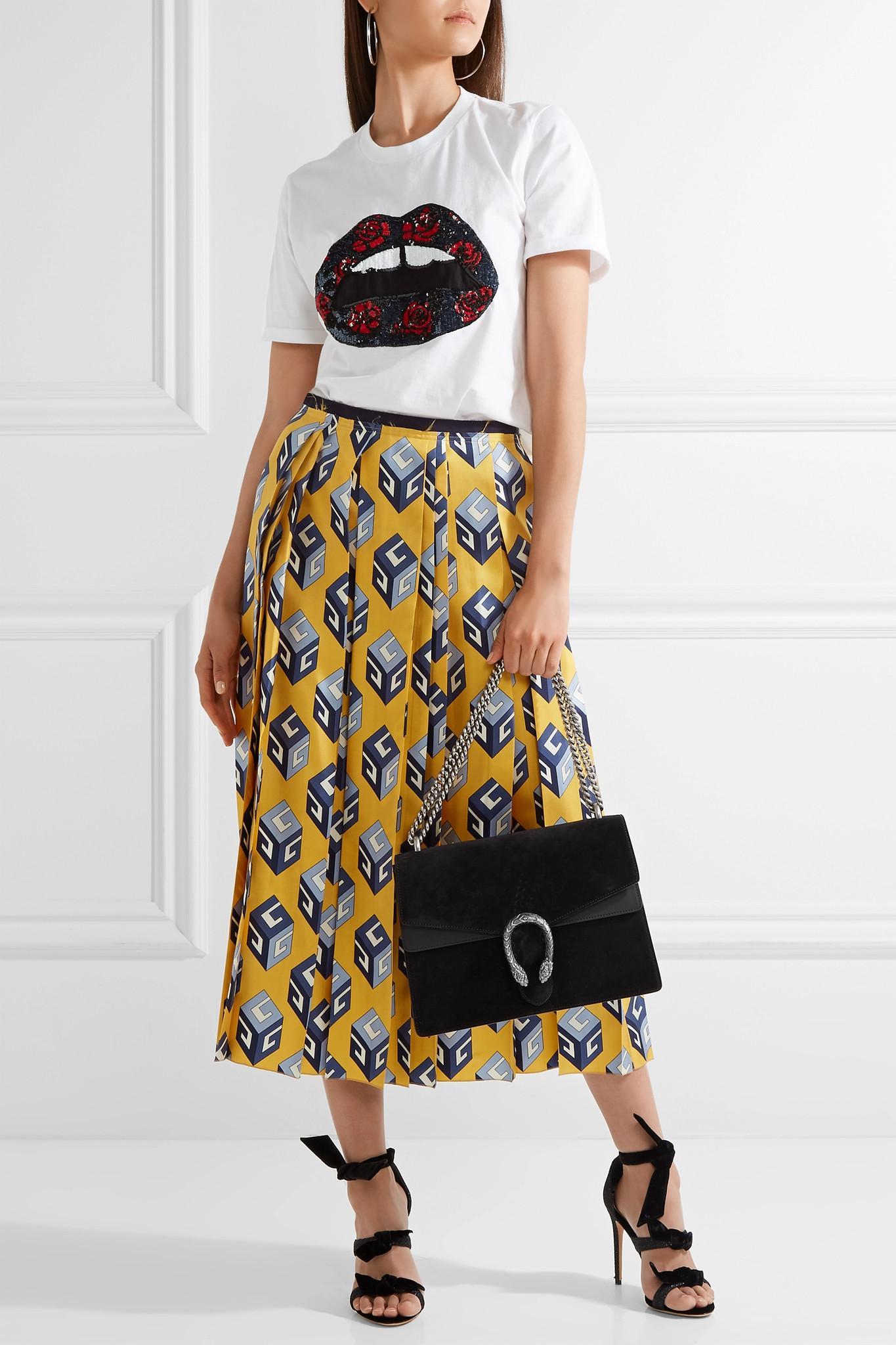 7e8967b071fa Gucci - Black Dionysus Medium Suede Shoulder Bag - Lyst. View fullscreen