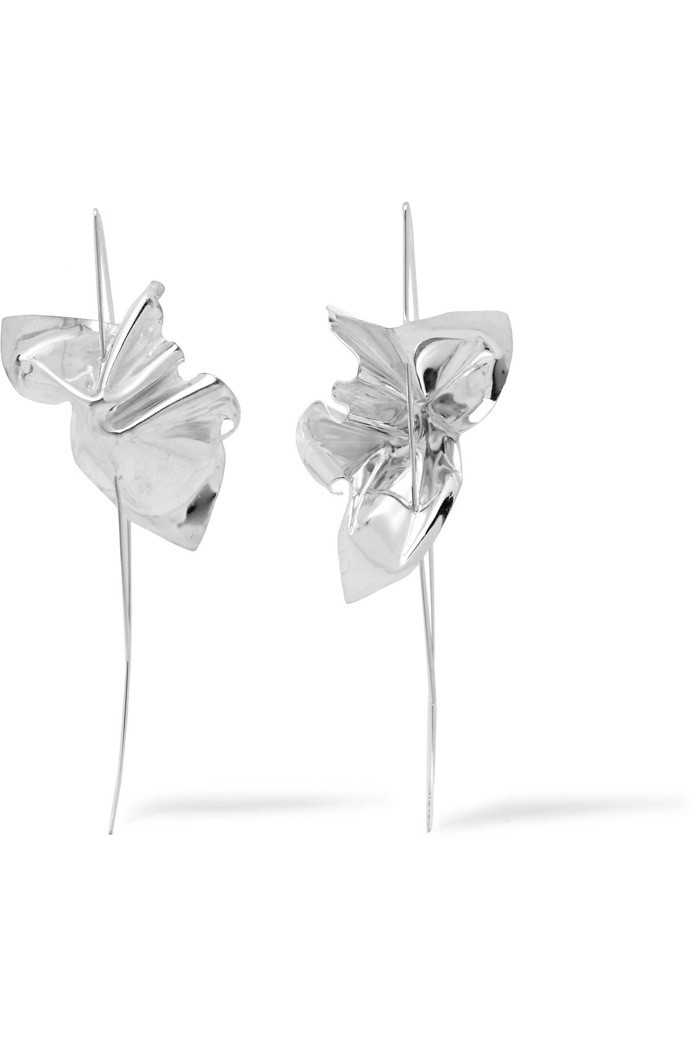 Closer By Wwake Cape Silver Earrings - one size Wwake mzmtfBOc