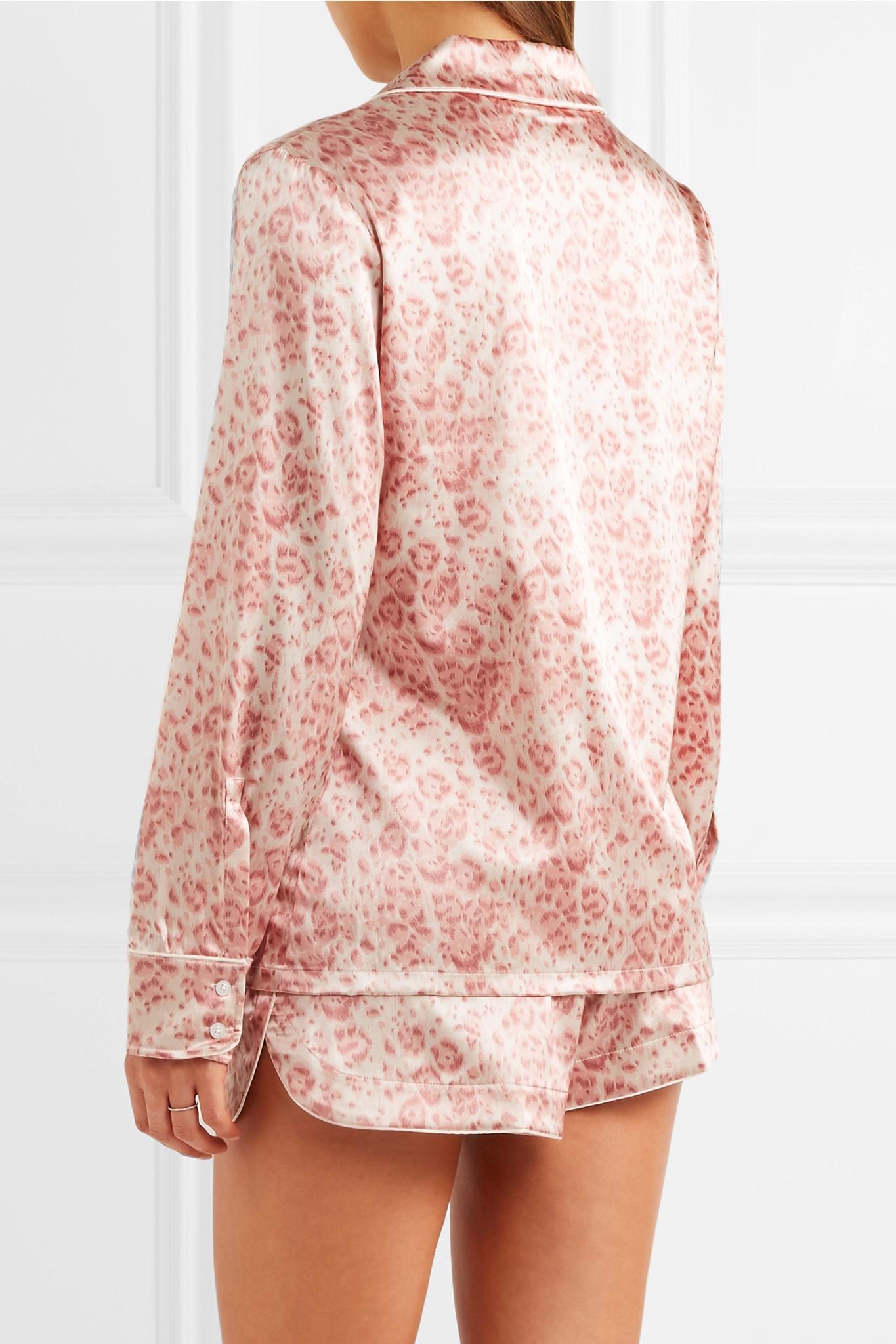 Lyst - Stella McCartney Poppy Snoozing Leopard-print Stretch-silk ... ea480af2d